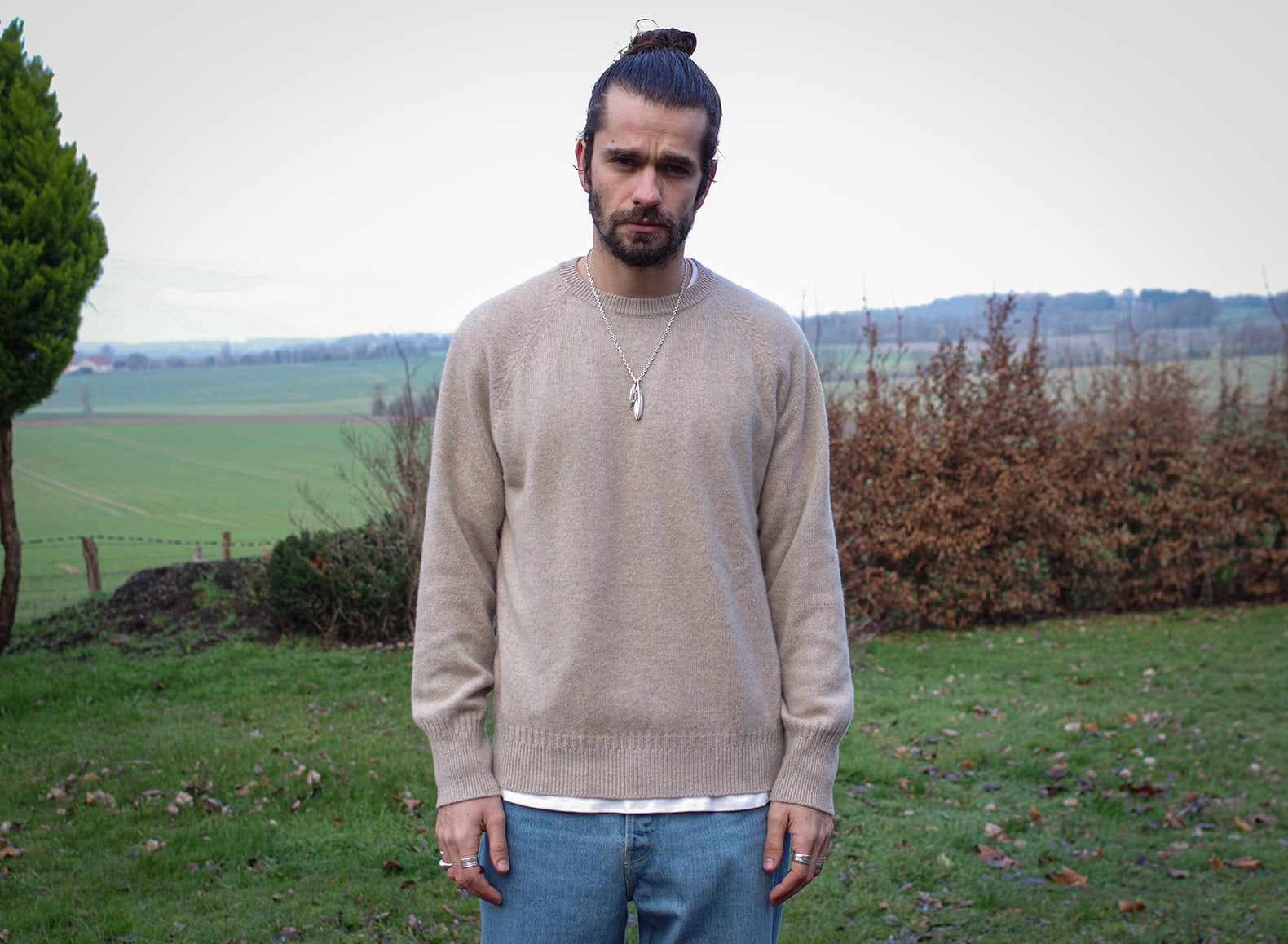 pull col rond homme cachemir comment le porter