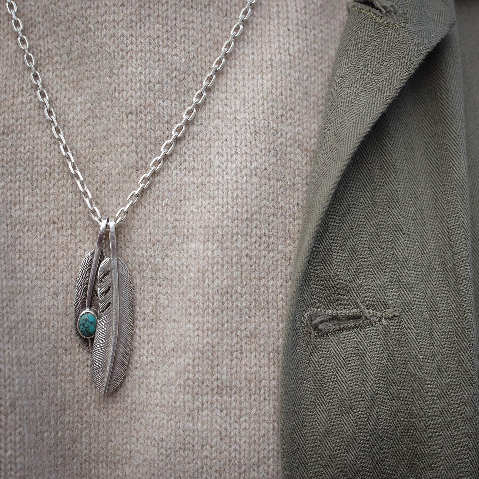 bijoux homme argent japonais First Arrows Plume