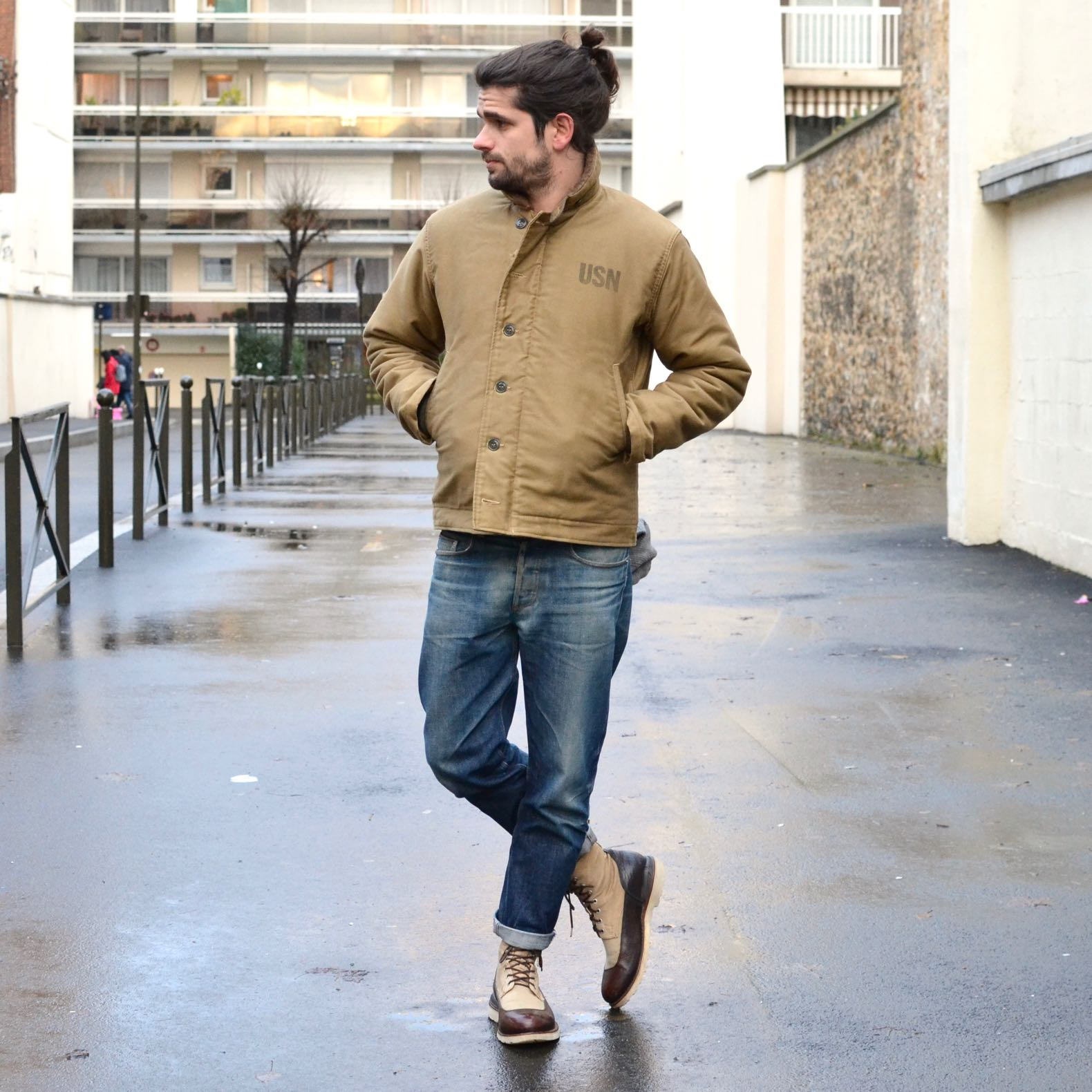 look homme inspiration militaire us navy