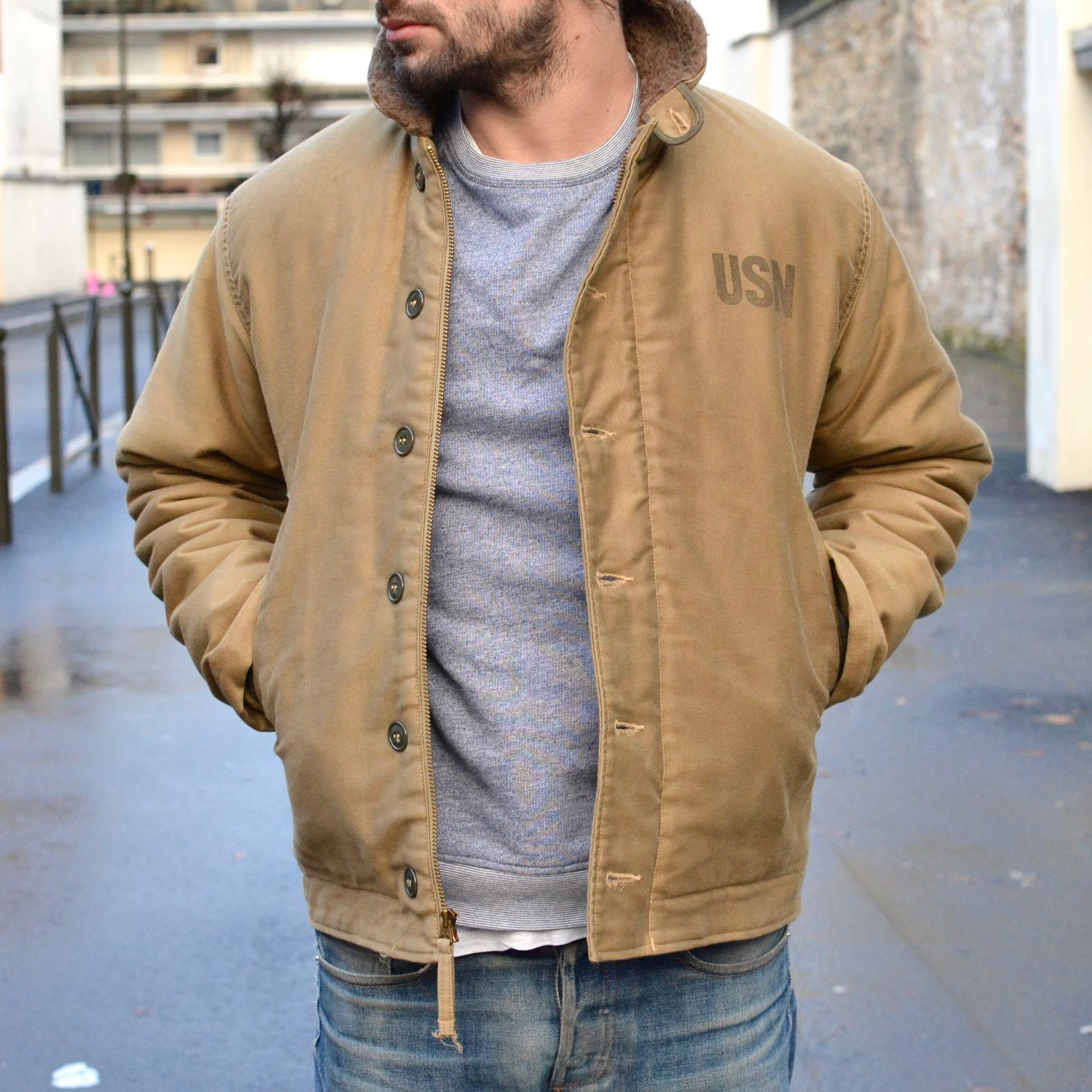 n1 deck jacket Buzz Rickson alpaga liner
