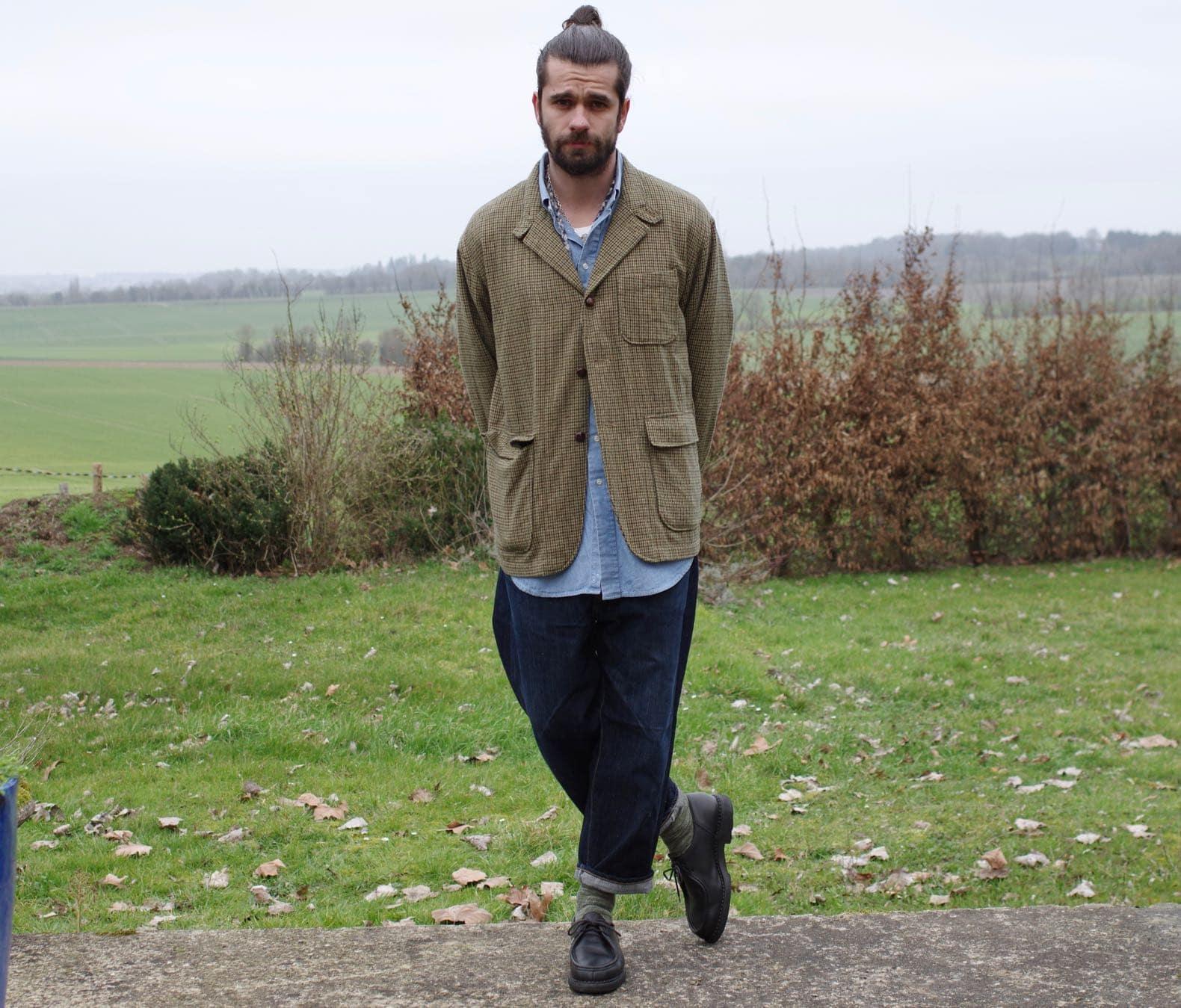 comment bien porter un motif pied de poule dans une tenue homme
