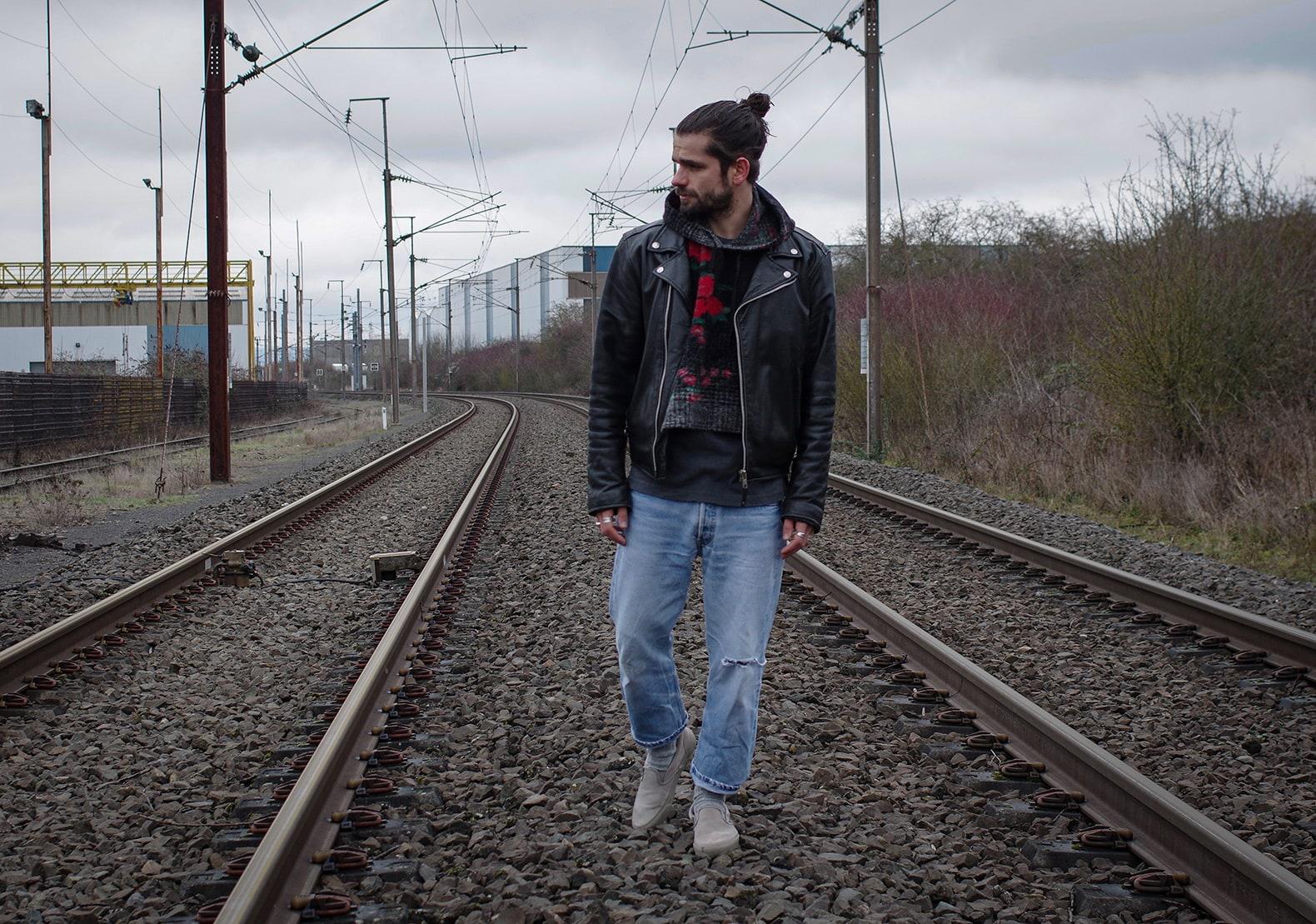 idée de tenue avec un perfecto : le jean levi's 501