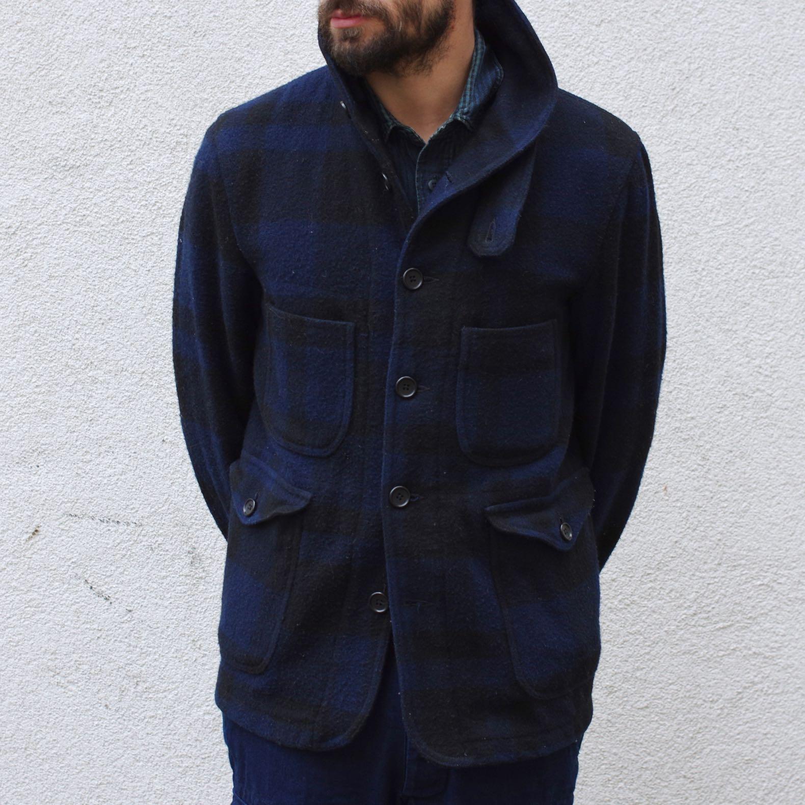 woolrich woolen mills main guide jacket black @ navy