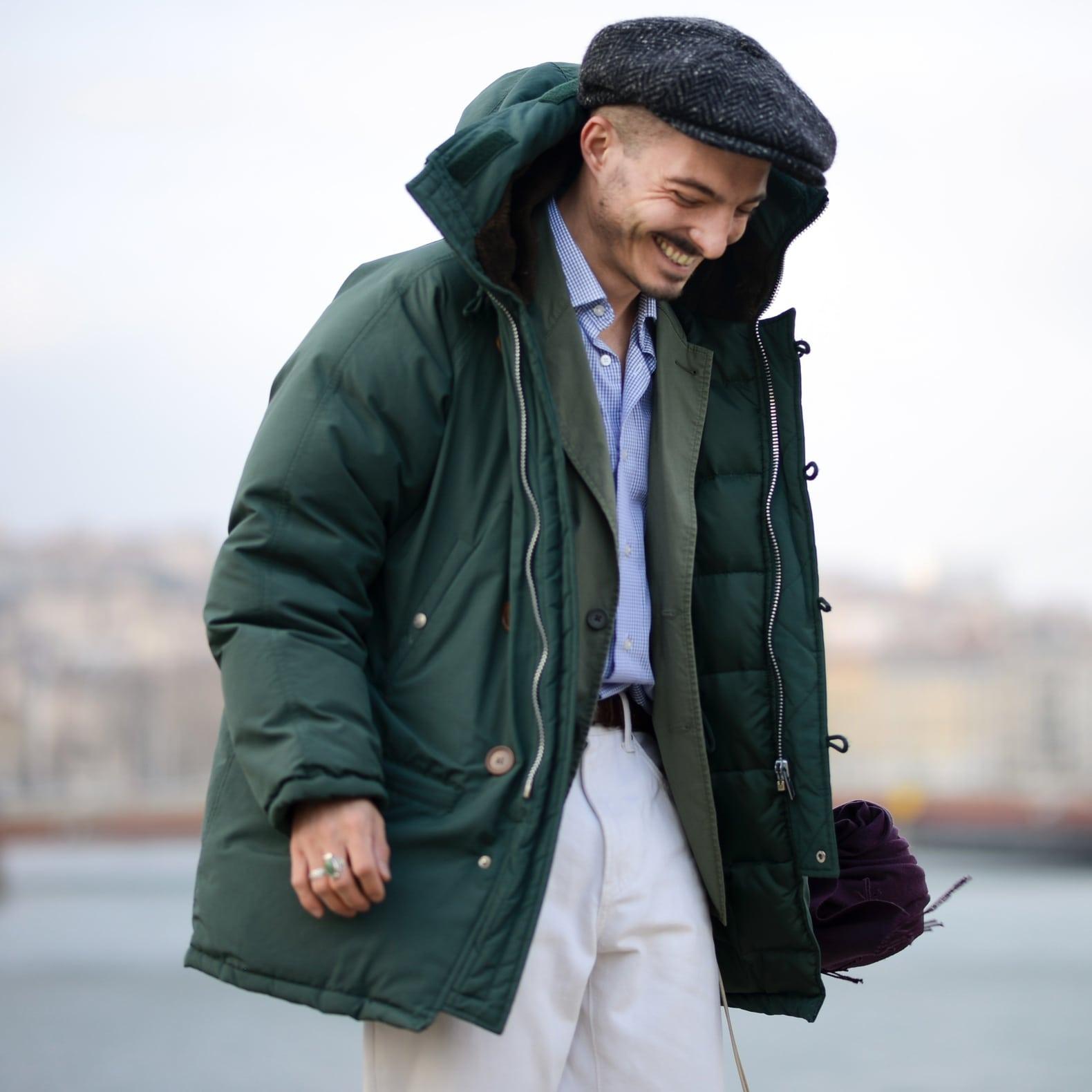 idée tenue homme pour porter une parka doudoune en duvet