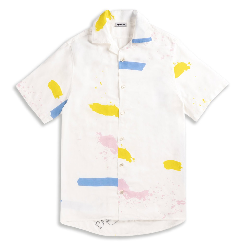 chemisette à col cubain inspiration chemise manche courte bowling marque reception artiste patrick guidot