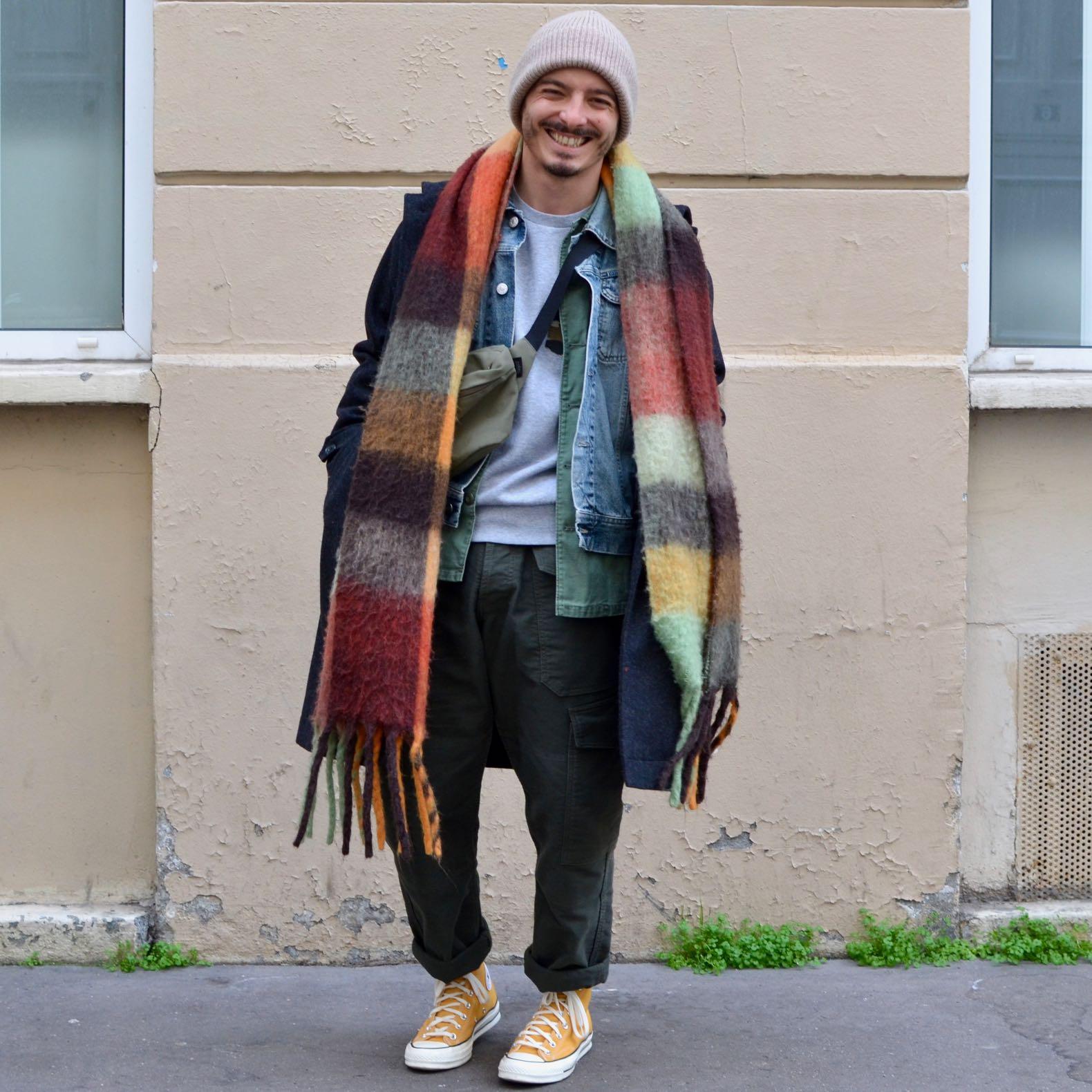 conseil style pour homme petit puor porter coupe large et manteau long