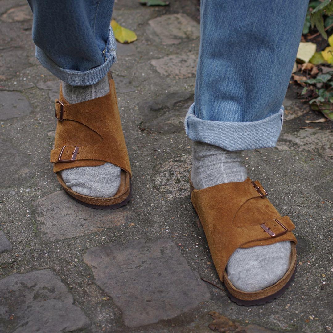 idée de look avec chaussettes en laine et claquettes birkenstock zuric