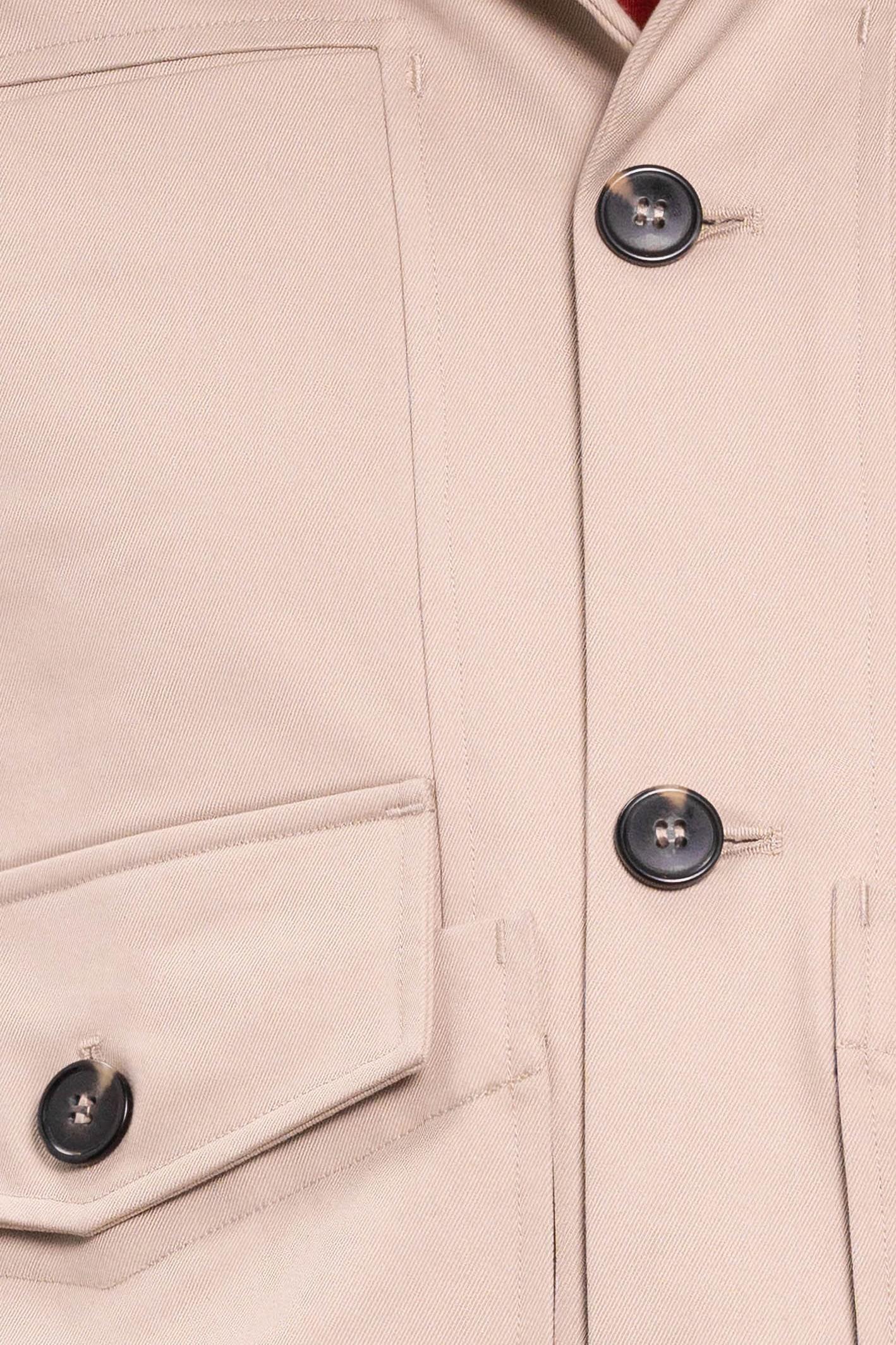 detail de matière d'une veste faite en france