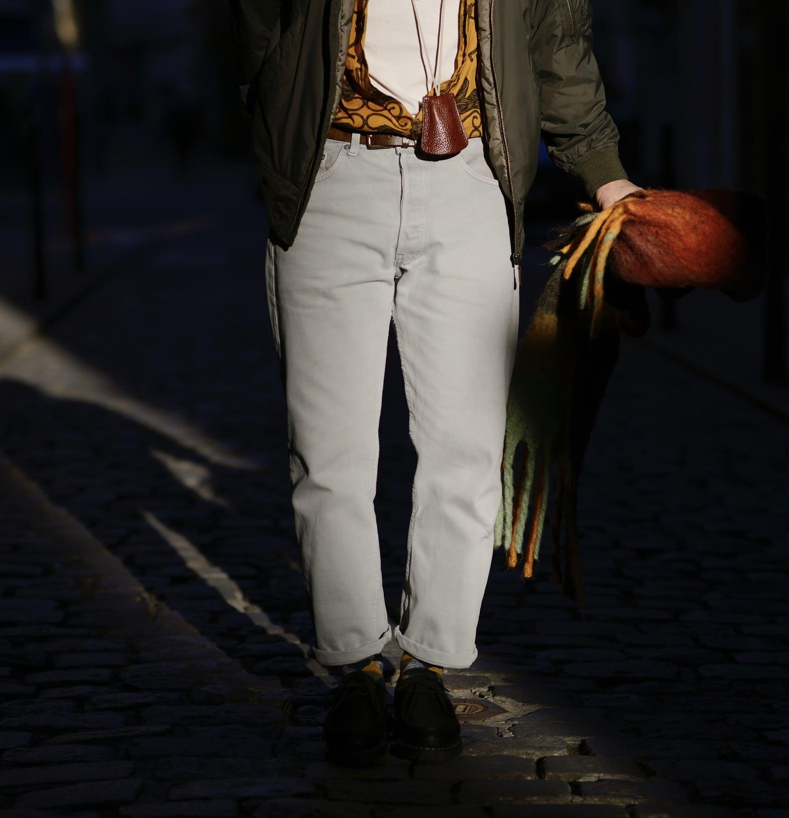 jean blan homme avec paraboot