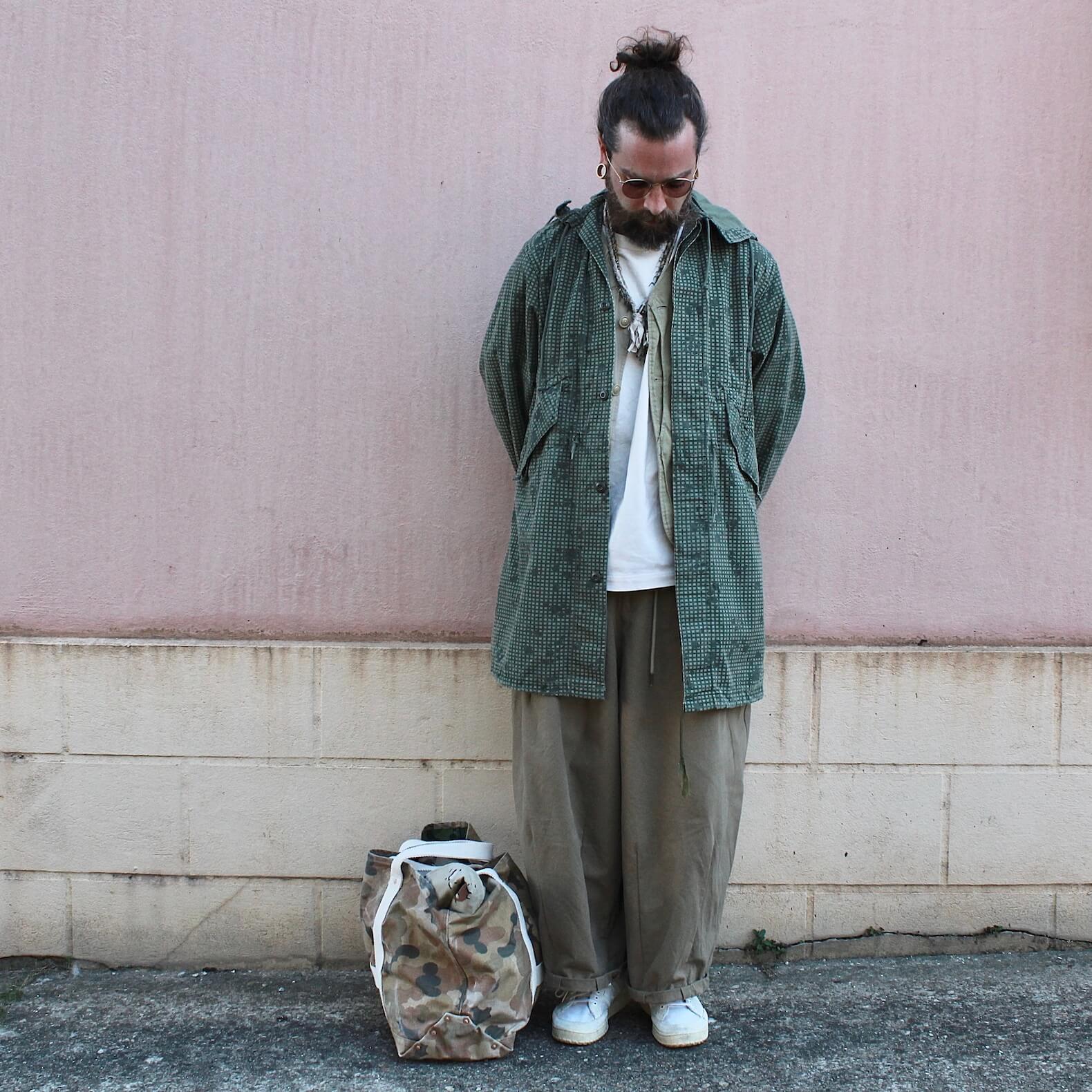 homme-parka-militaire-camouflage-pantalon-large