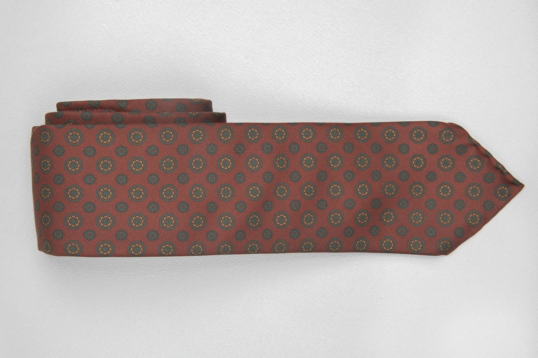 cravate dare in paris en soie couleur lie de vin à motif ottoman