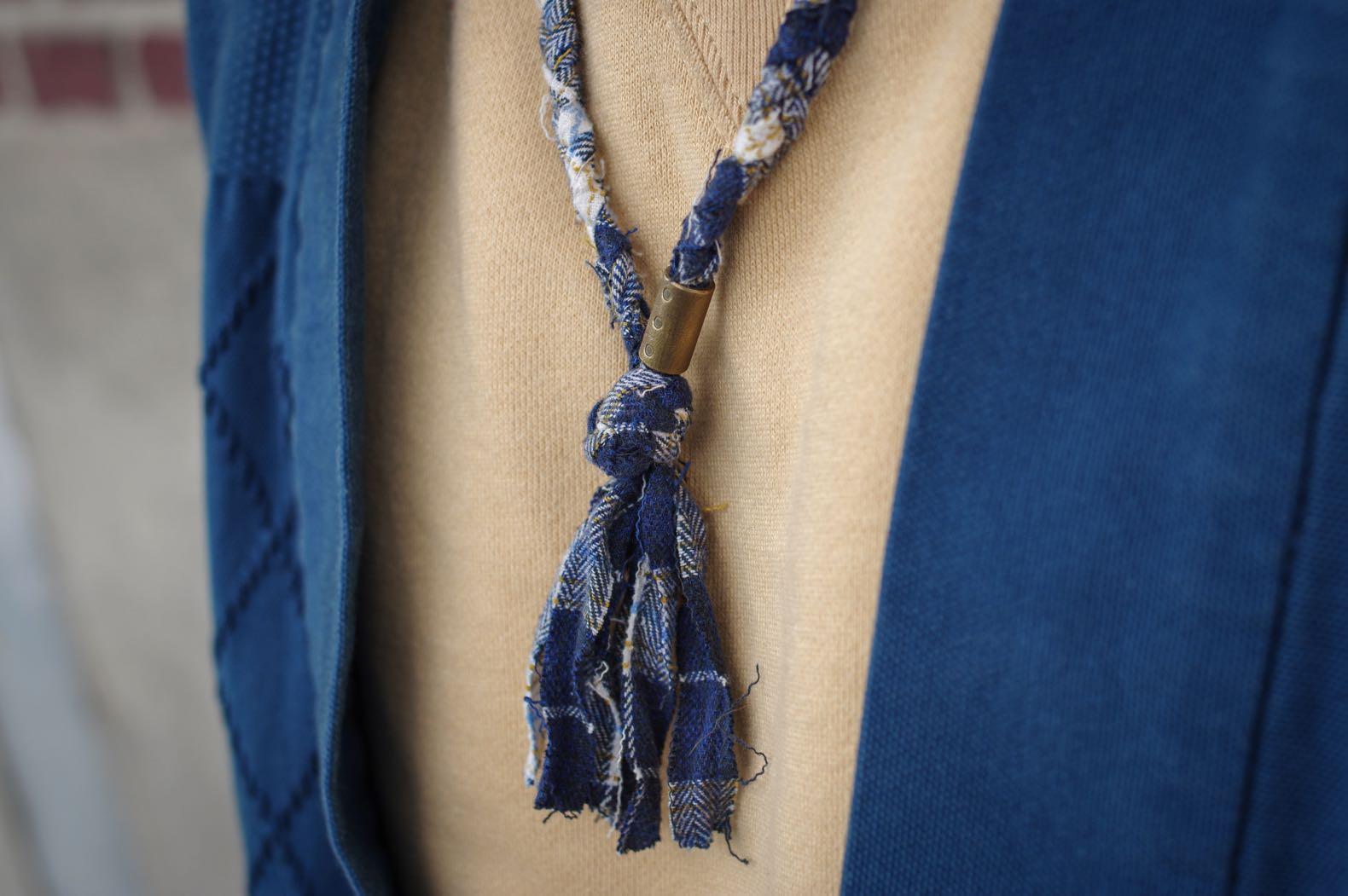 collier de tissu tressé pour homme de la marque borali