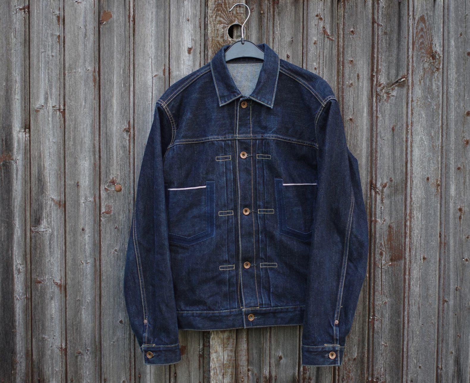 veste en jean brut fabriquée au japon de la marque Phi Denim
