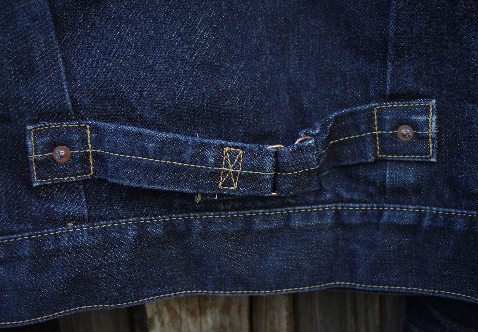martingale de veste en jean trucker type 1