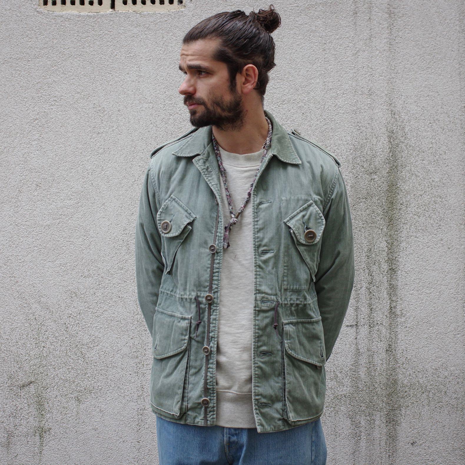 visvim green dyed corduroy caf jacket