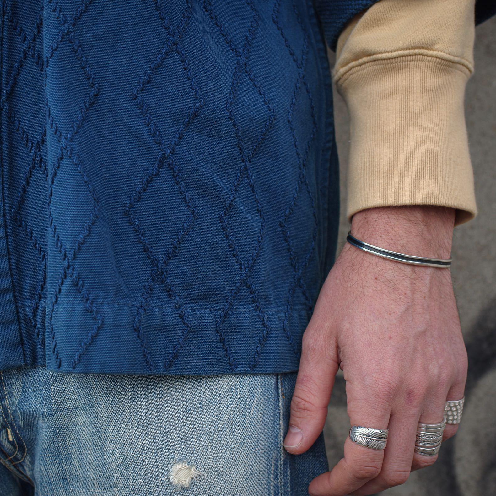 bijoux en argent pour homme vintage style navajo plume