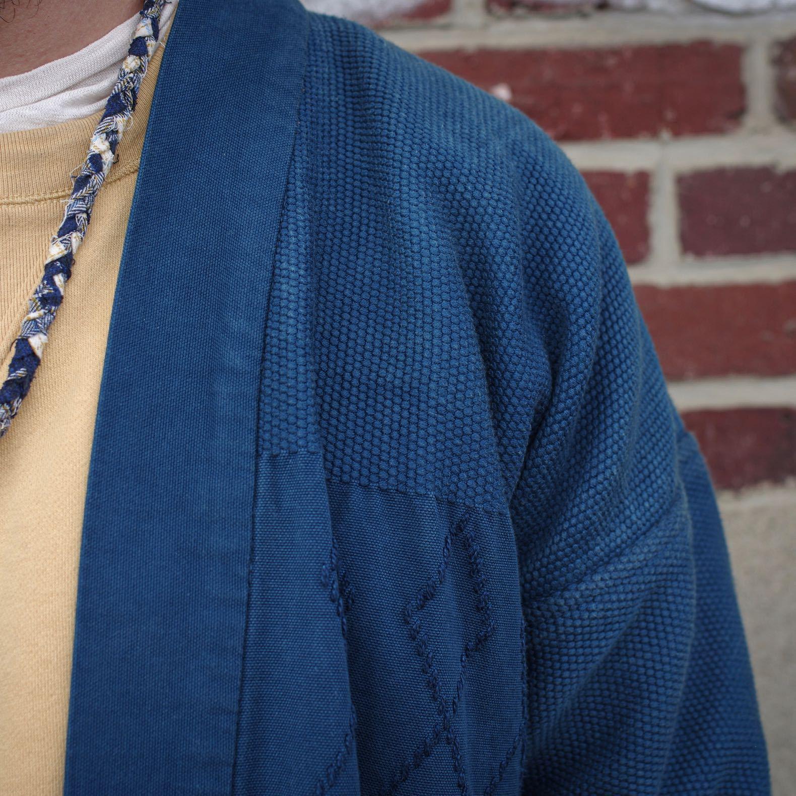 matière kimono japonais sashiko indigo teinture