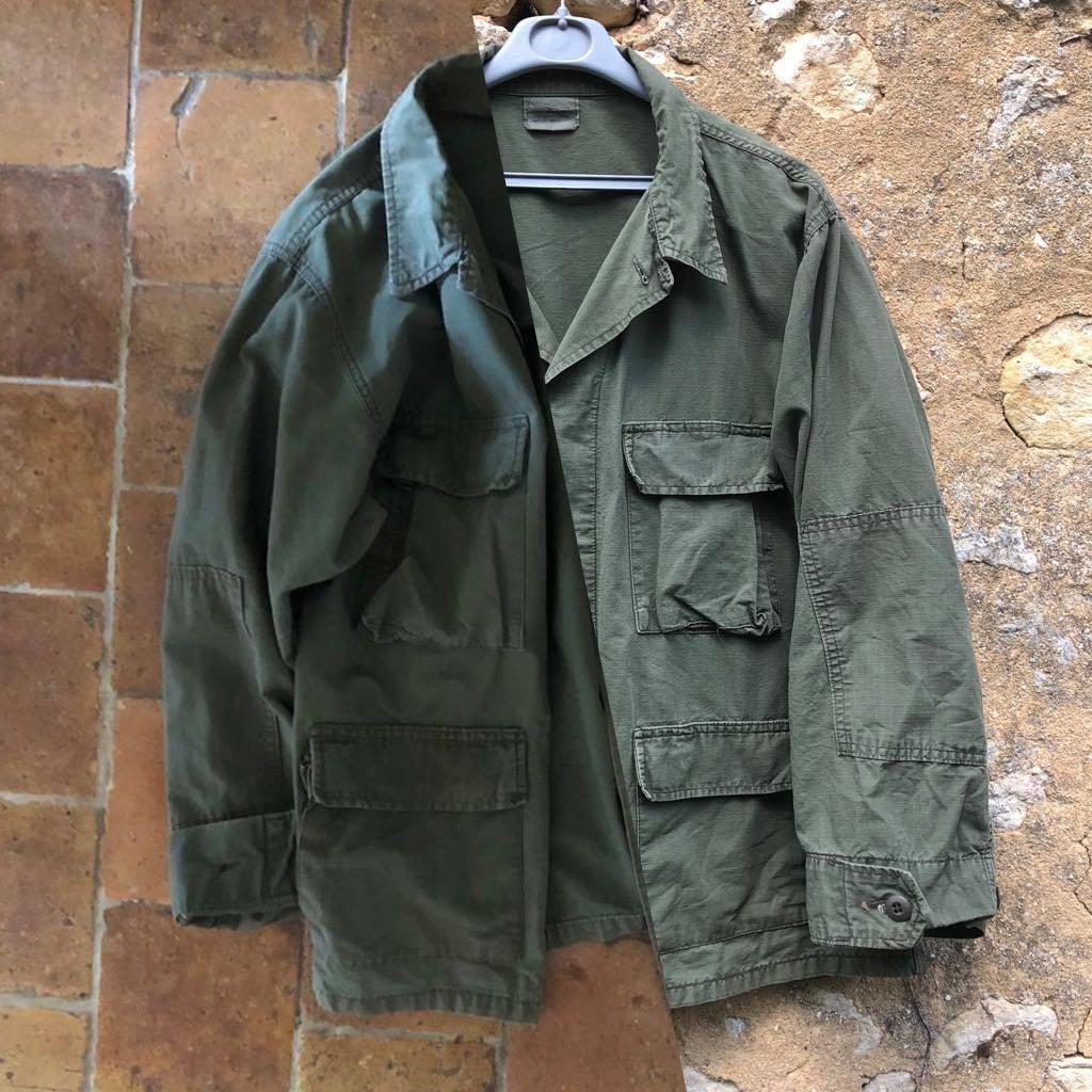 veste militaire type BDU shirt en coton ripstop vintage