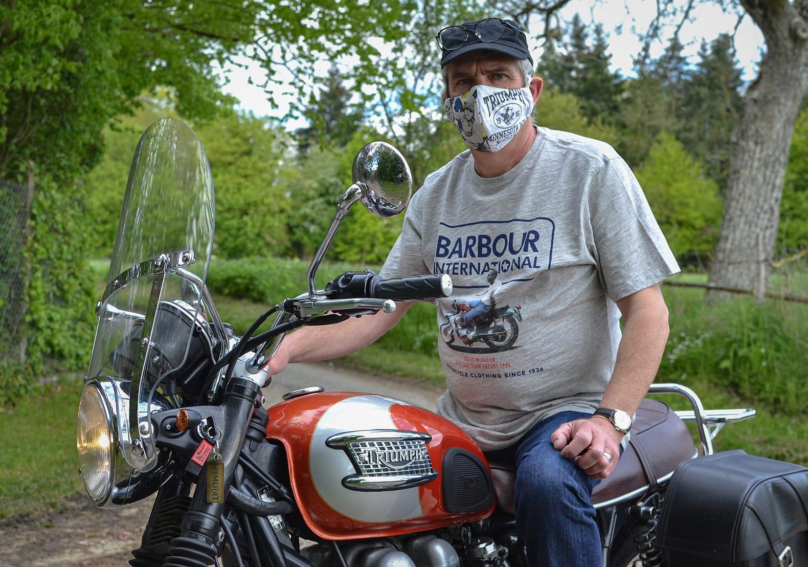 un vrai motard c'est ça