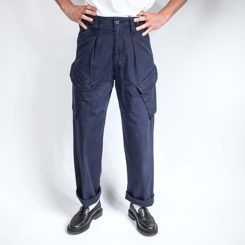 pantalon poches cargo vintage taille haute