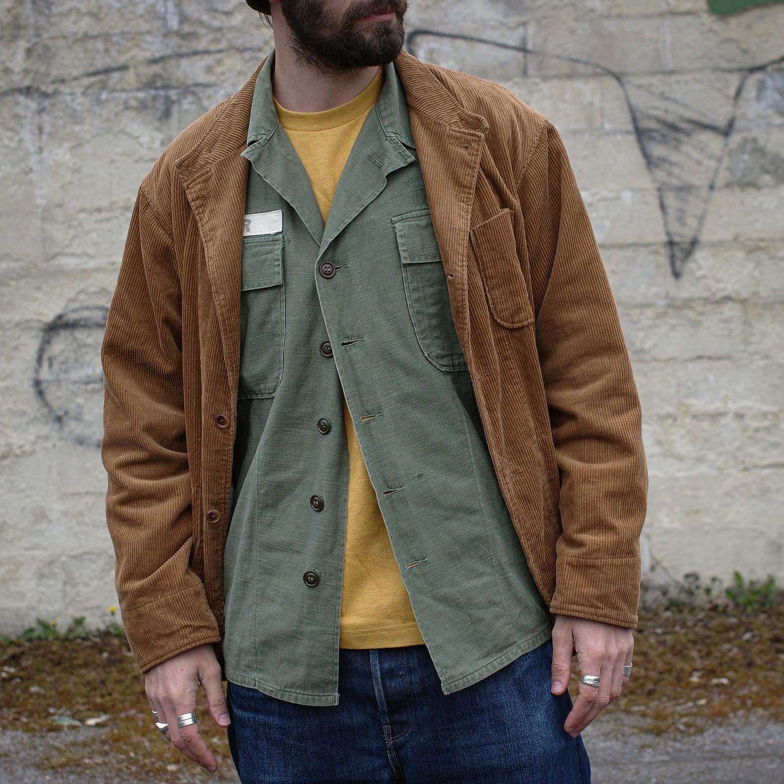comment porter une chemise militaire vintage