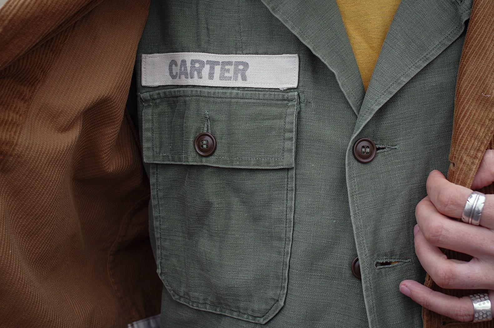 US army cotton sateen OG 107 type 1 shirt