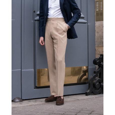 pantalon taille haute scavini à une pince
