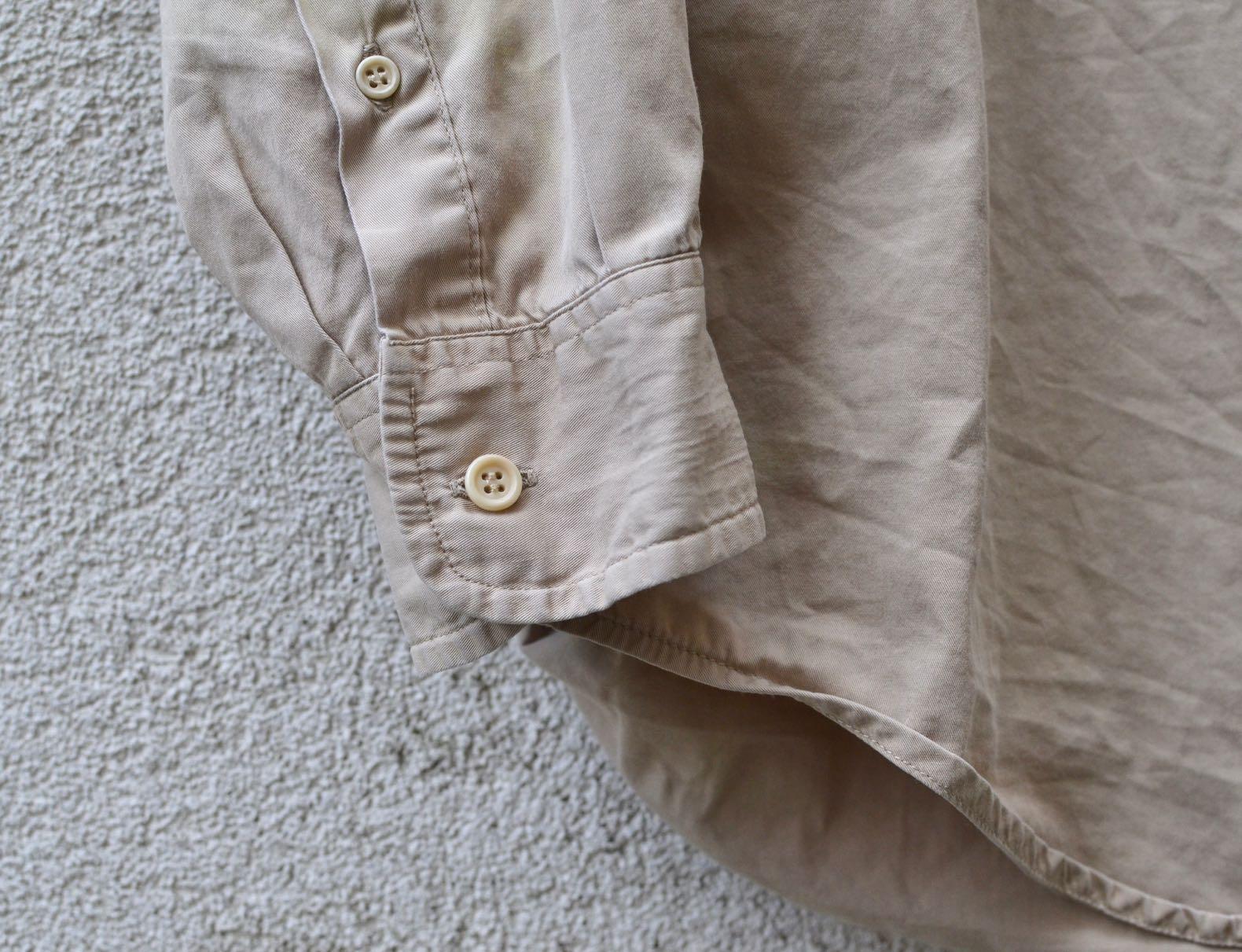 chemise beige en twill façonnable vintage