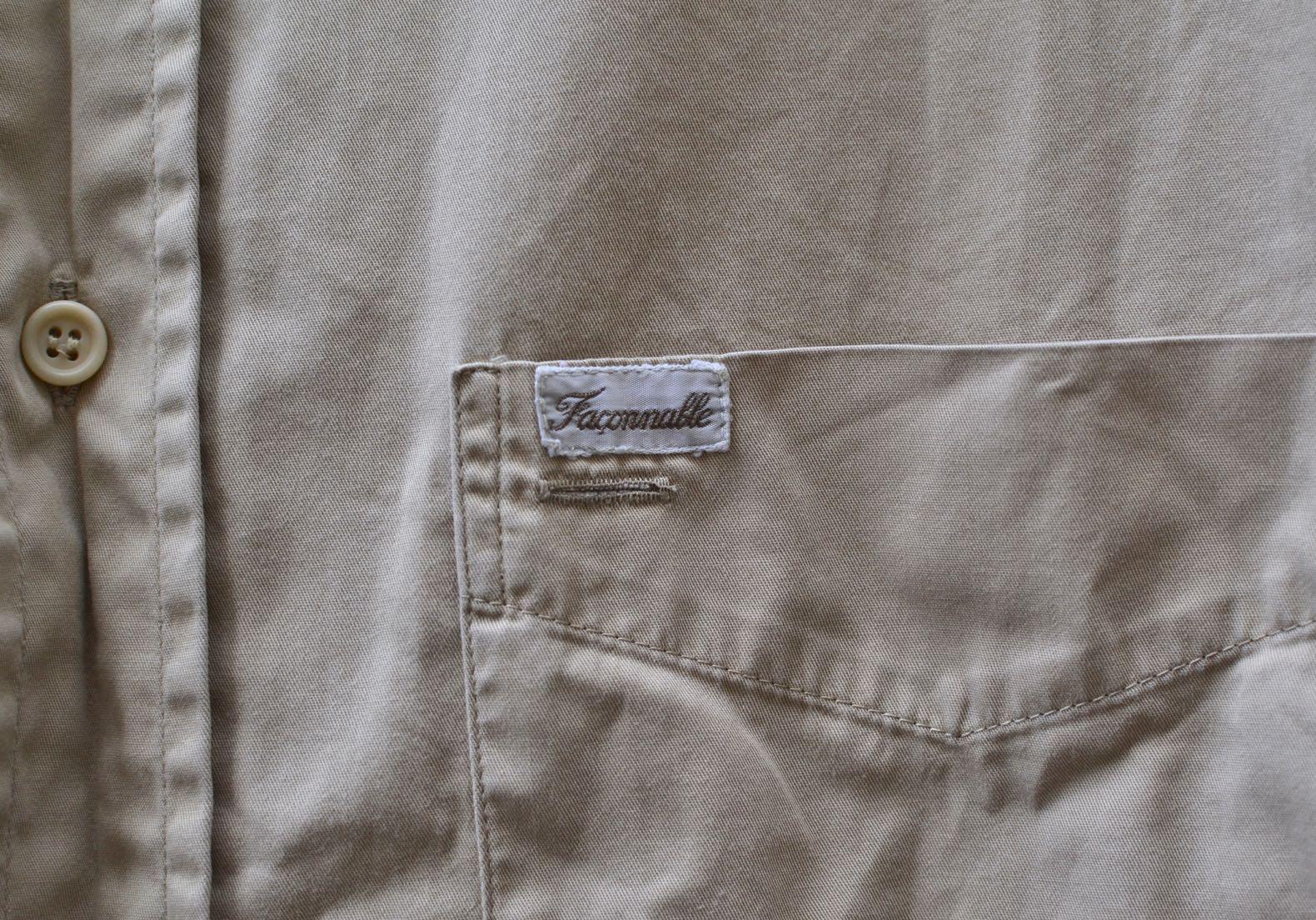 chemise façonnable vintage en twill de coton