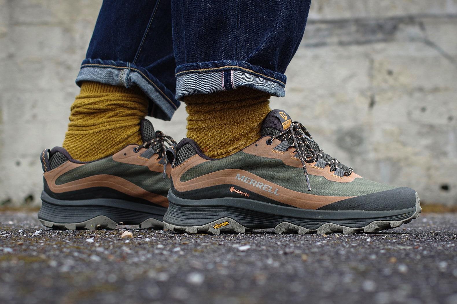 merrell-moab-speed-gtxgreen avec chaussettes royalties paris