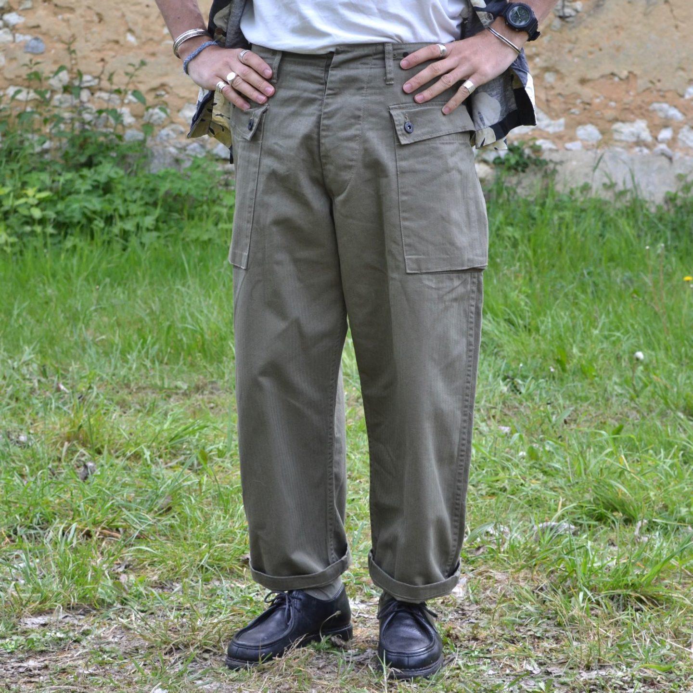 pantalon militaire hbt taille haute arashi denim