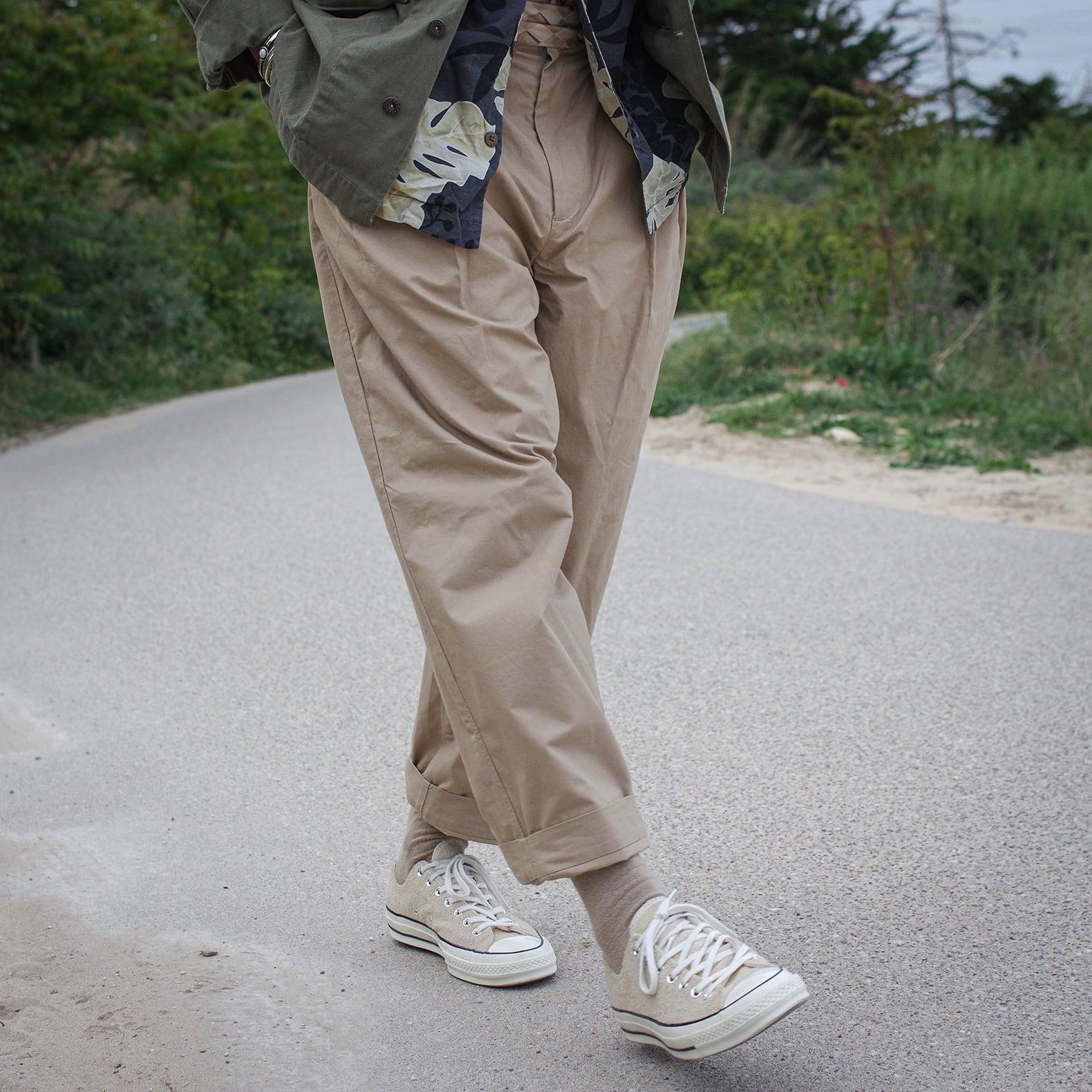 pantalon taille haute de bonne facture