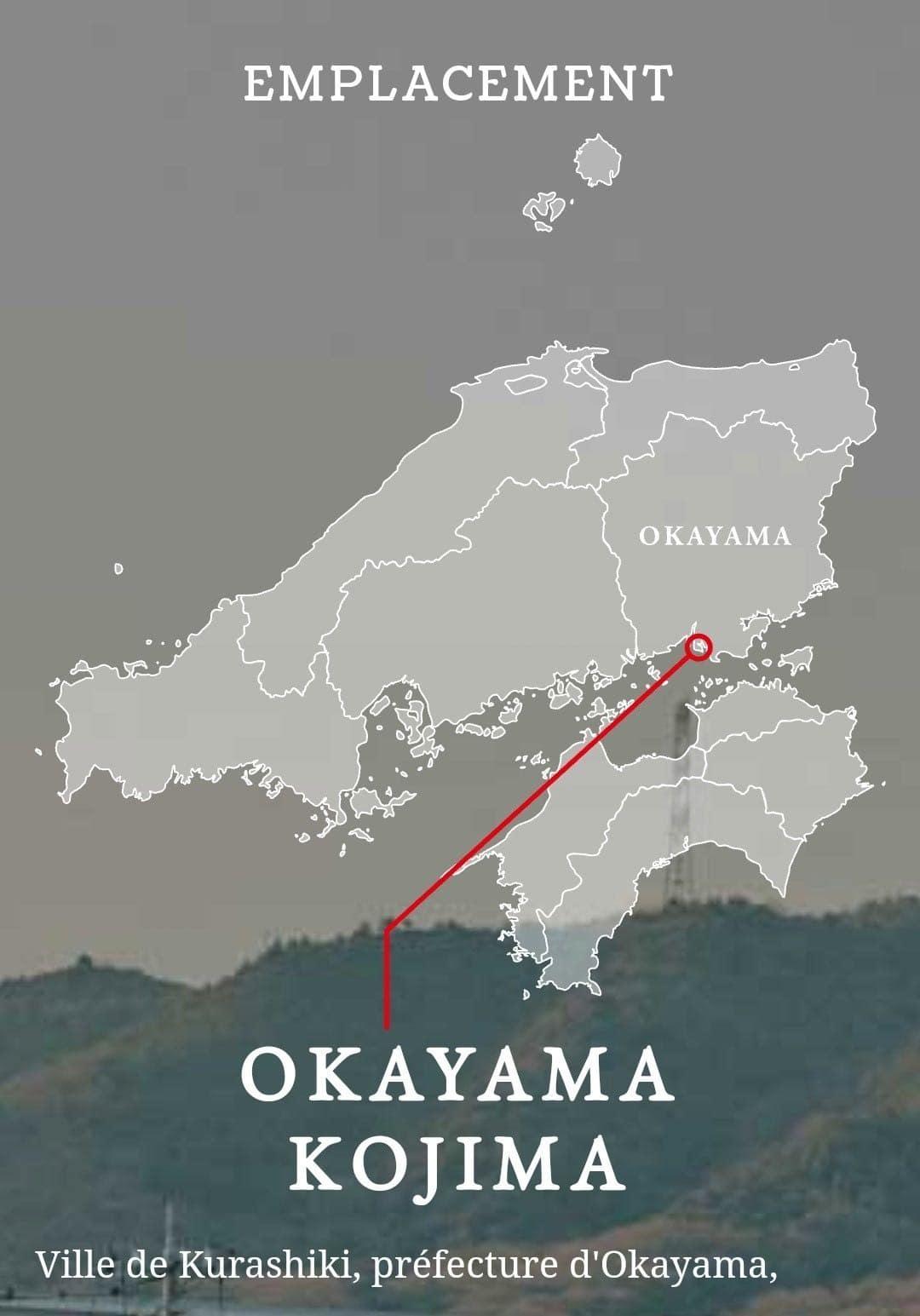 Lieu de production des vêtements de la marque Hatski, Okayama berceau du jean japonais