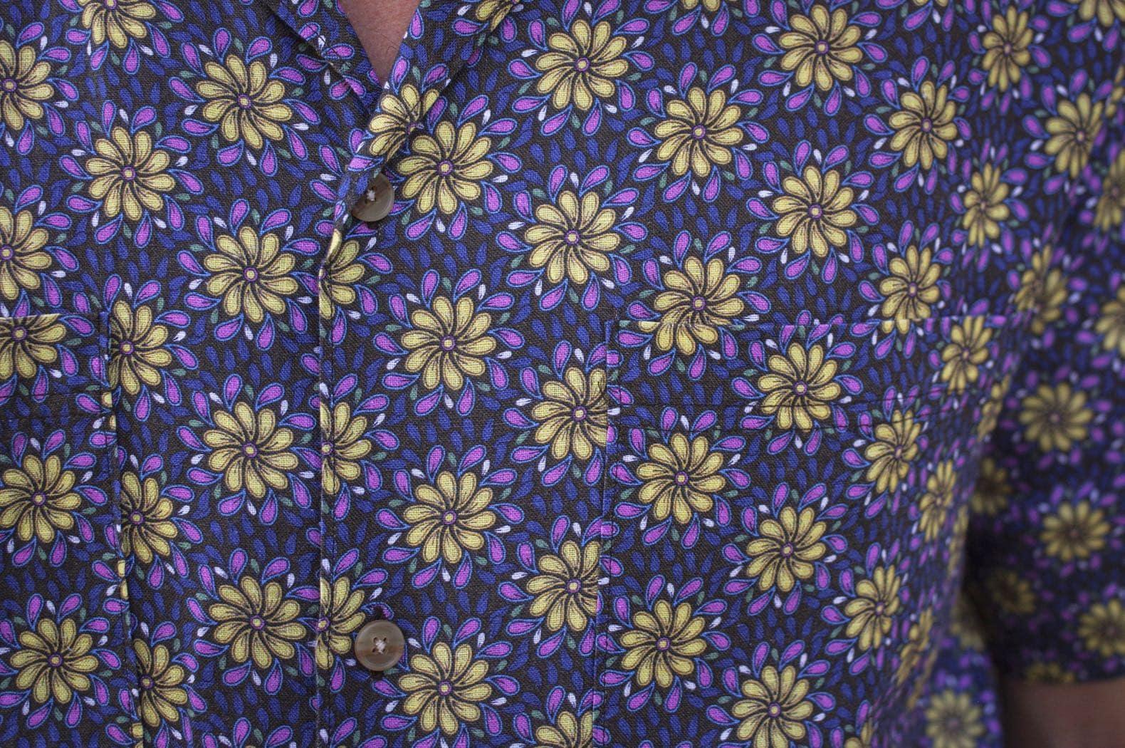 histon chemise lin imprimé fleurs