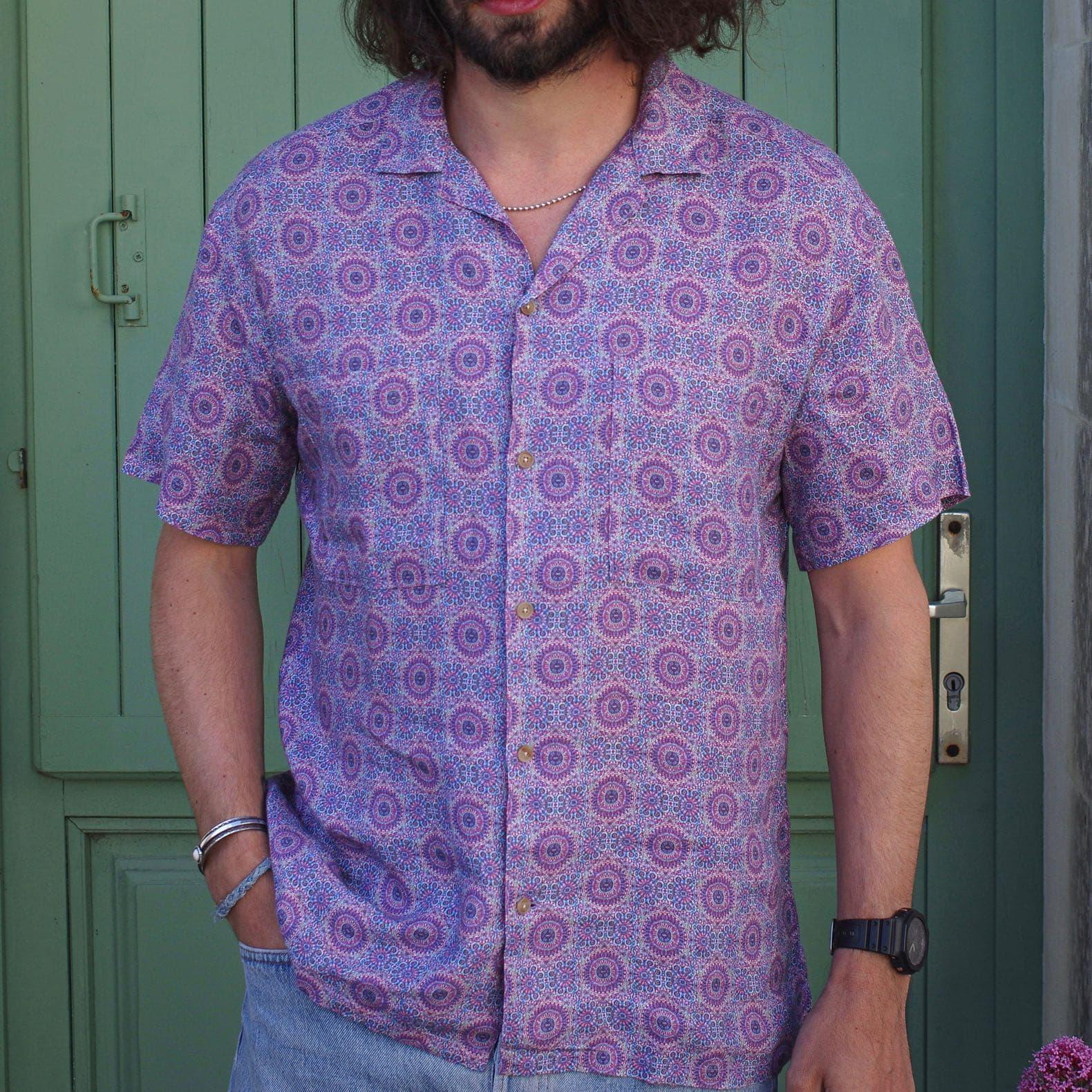 chemisette lin motif psychédélique Histon