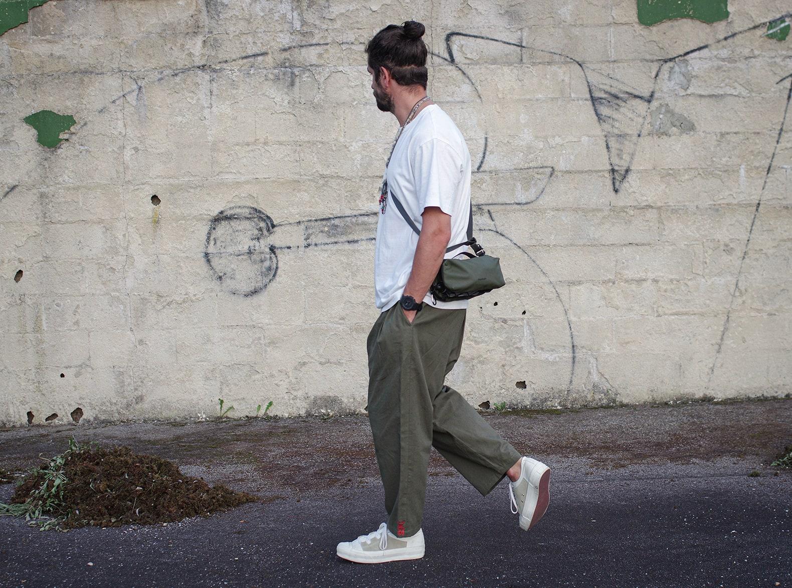 pantalon ample bggy sillage avec sac topologie brick pouch
