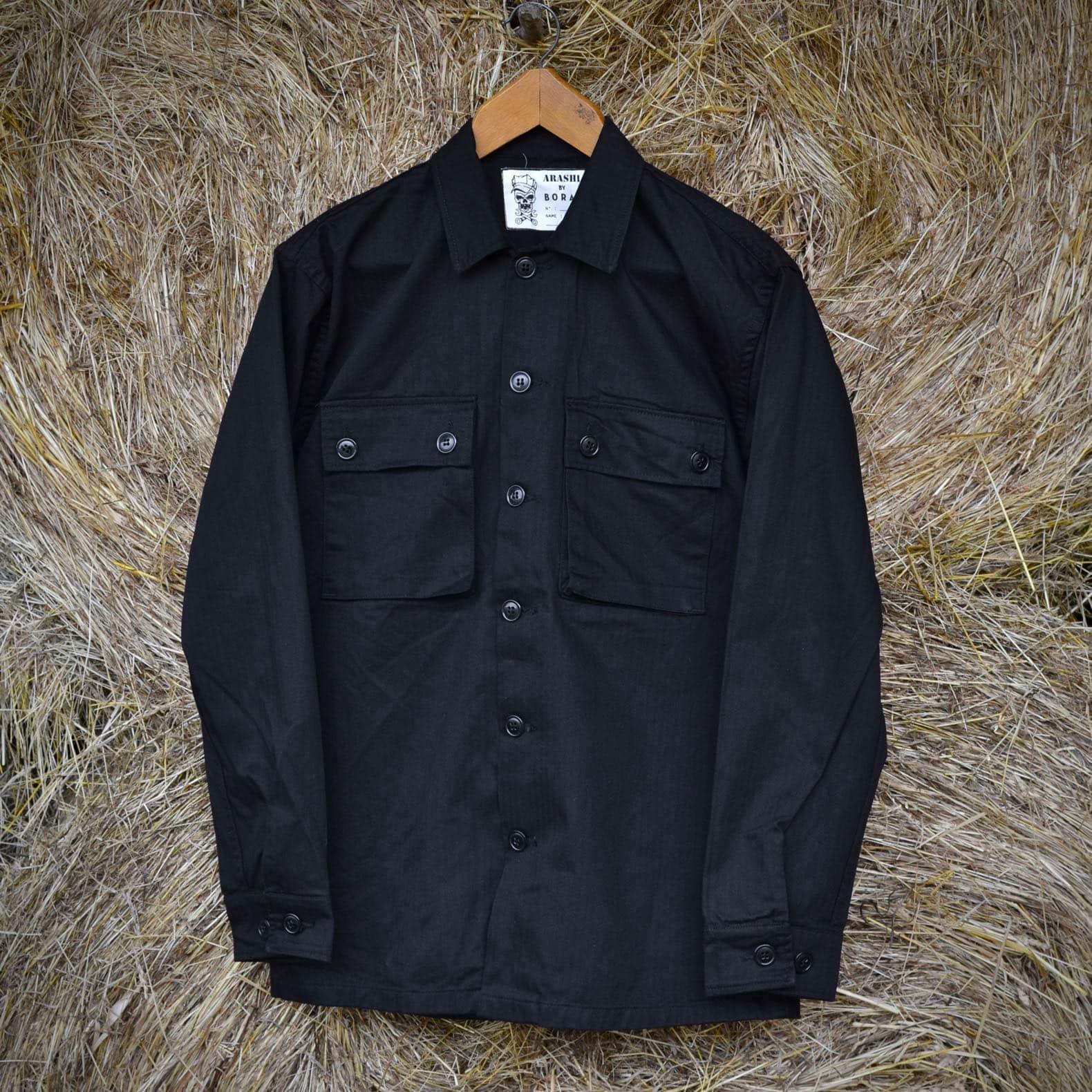 collab arashi by boras chemise ciso noire