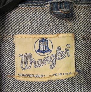 étiquette wrangler vintage
