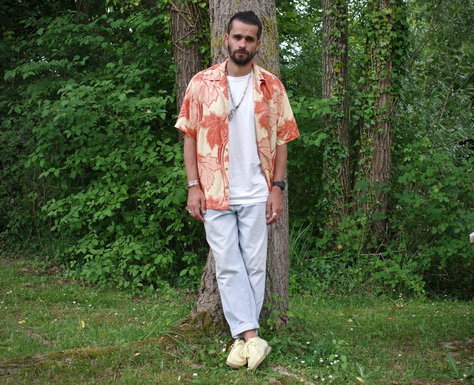 look été inspiration vintage chemise hawaienne jean bleach