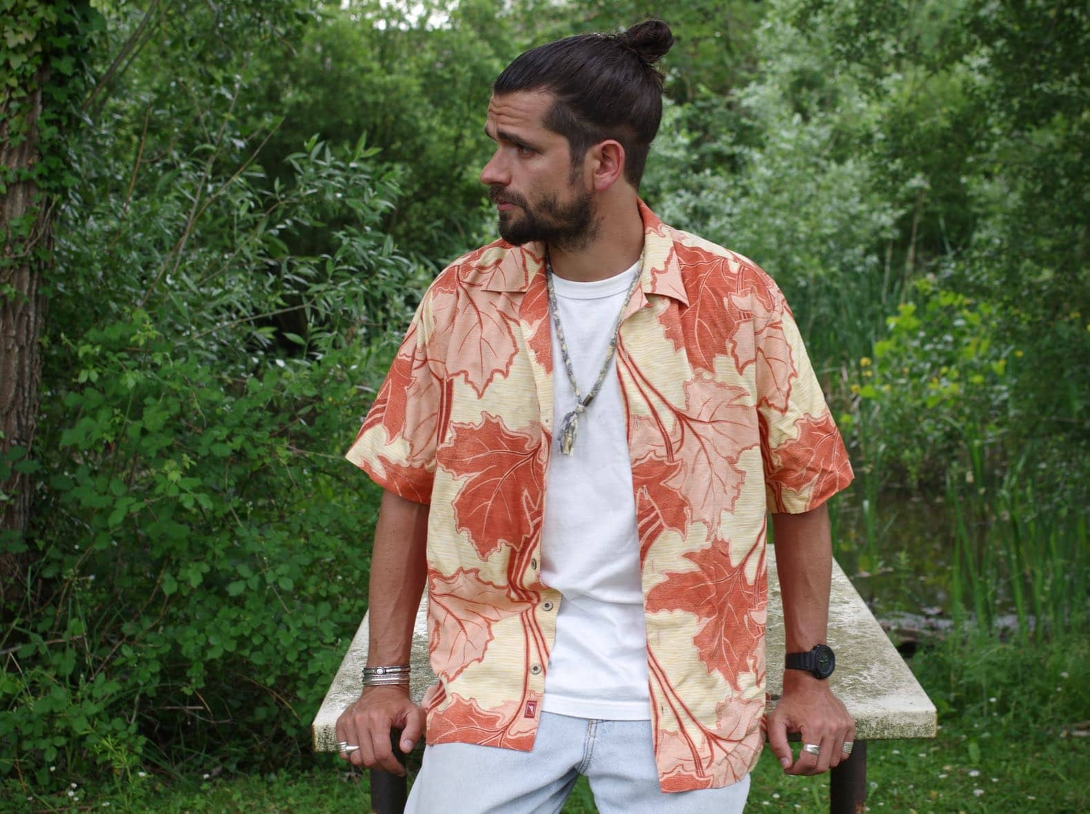 chemise tommy bahama hawaienne vintage soie
