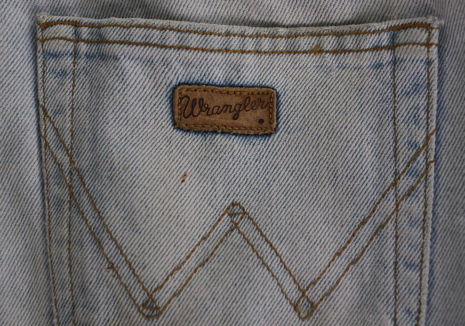 jean bleach wrangler coupe tapered
