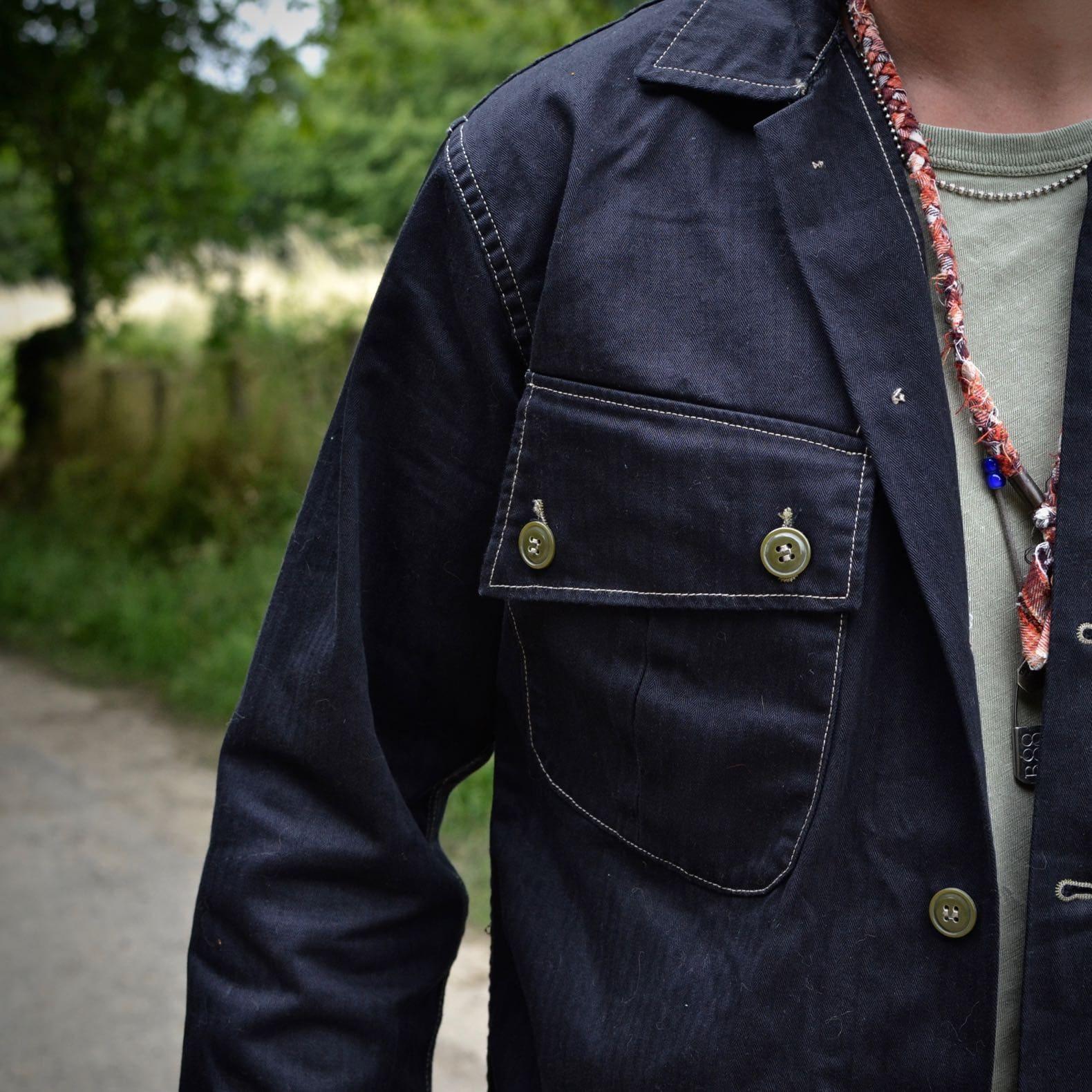 chemise tissu coton hbt noir arashi