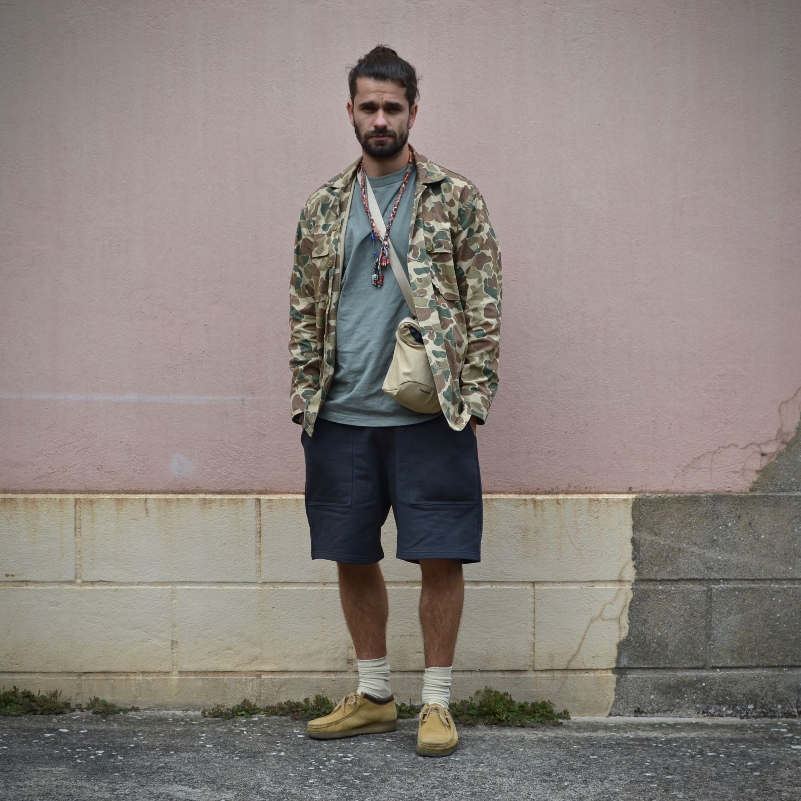 look men with clarks wallabee and camo us army shirt ciso