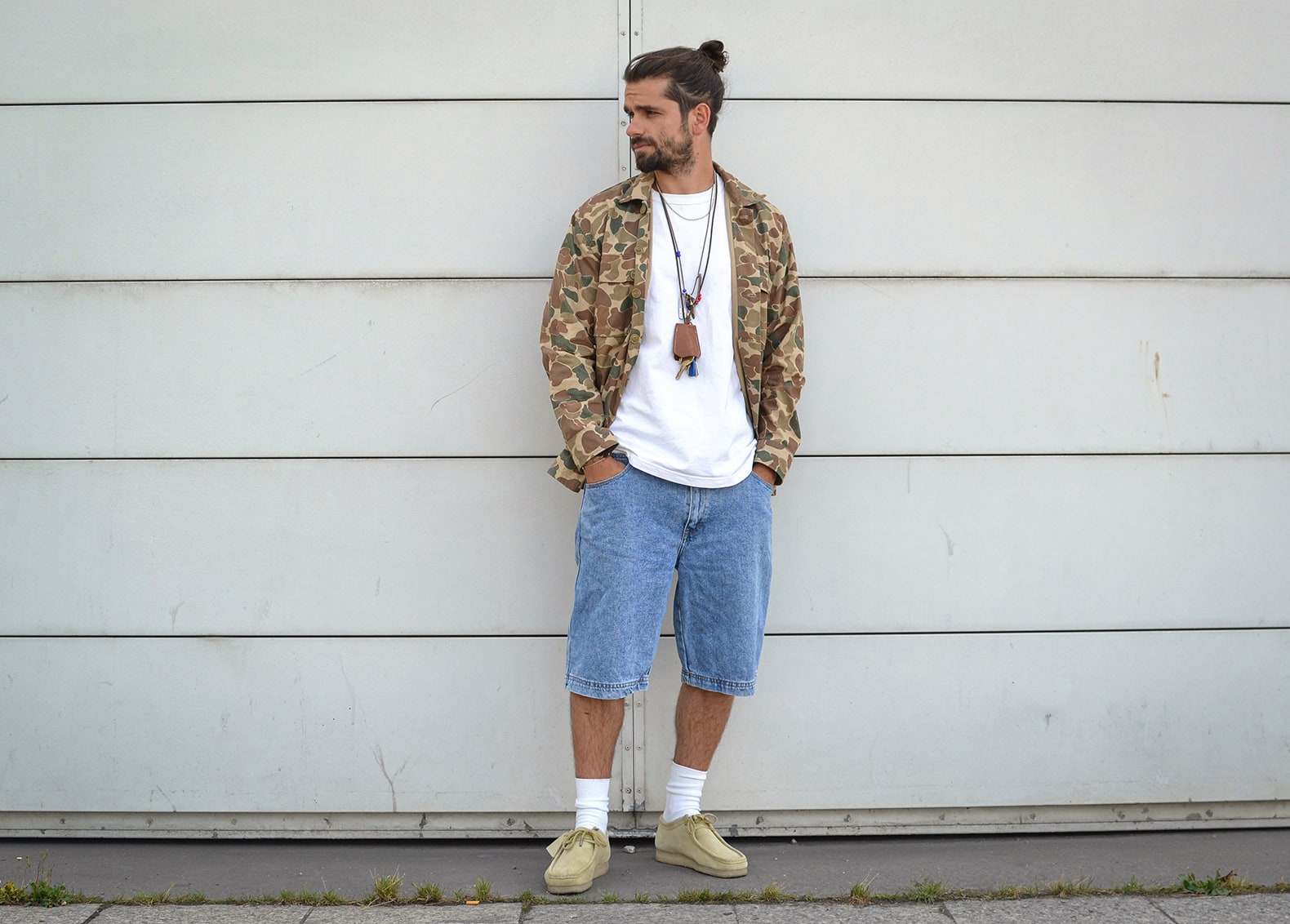 look en short en jean vintage