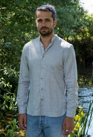 chemise slim chambray homme