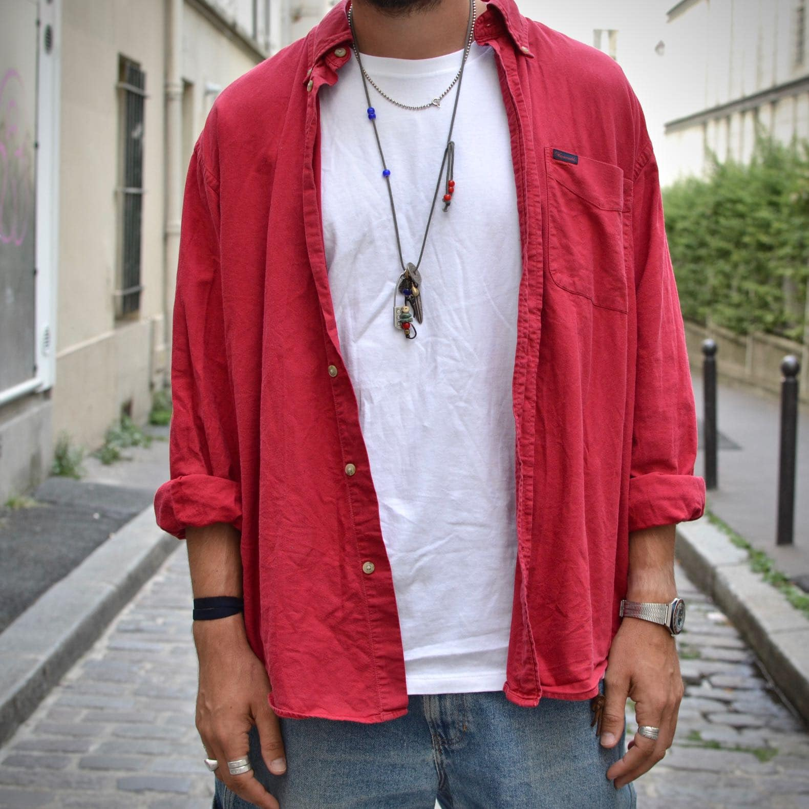 chemise oxford façoonable vintage