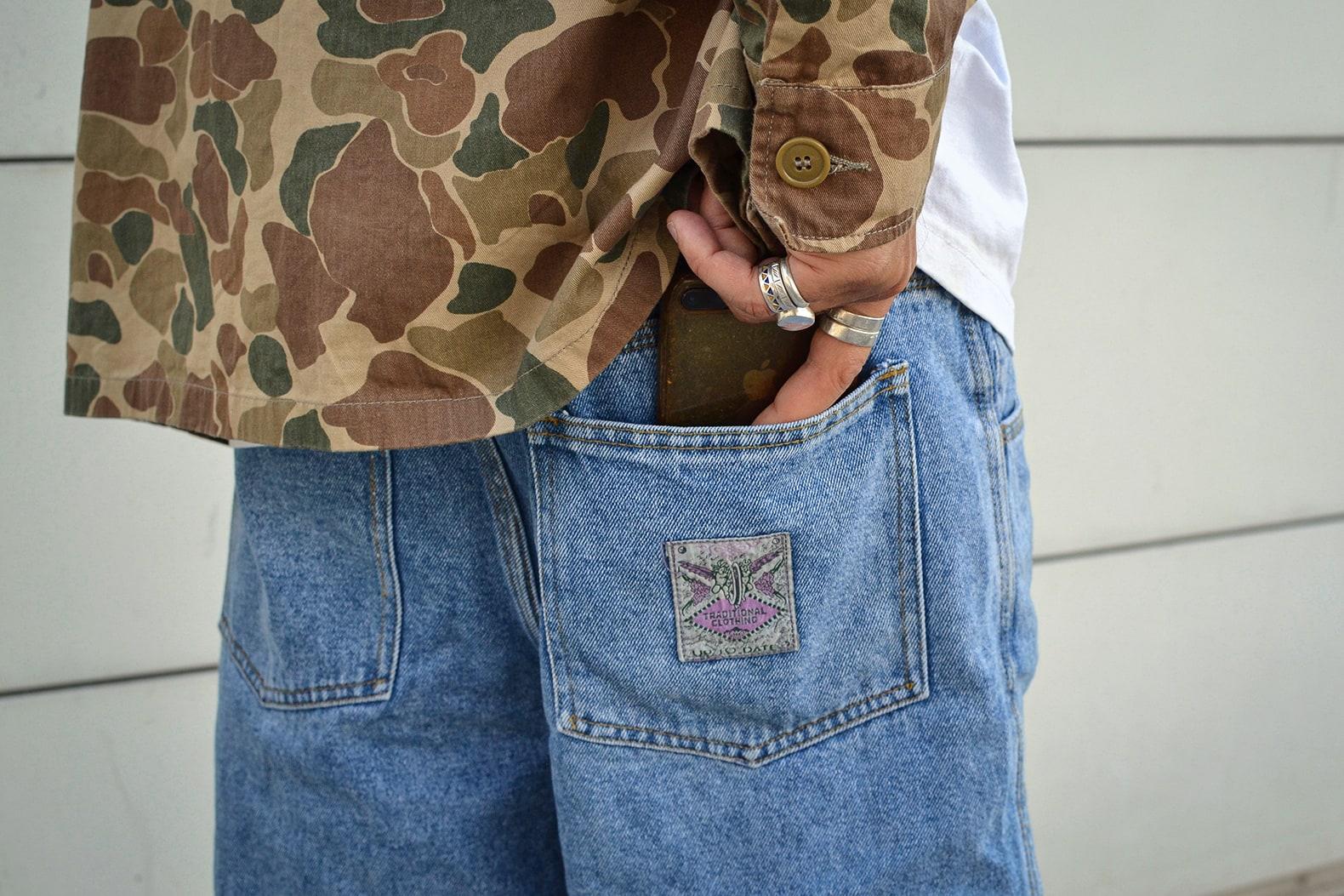 short jean workwear vintage