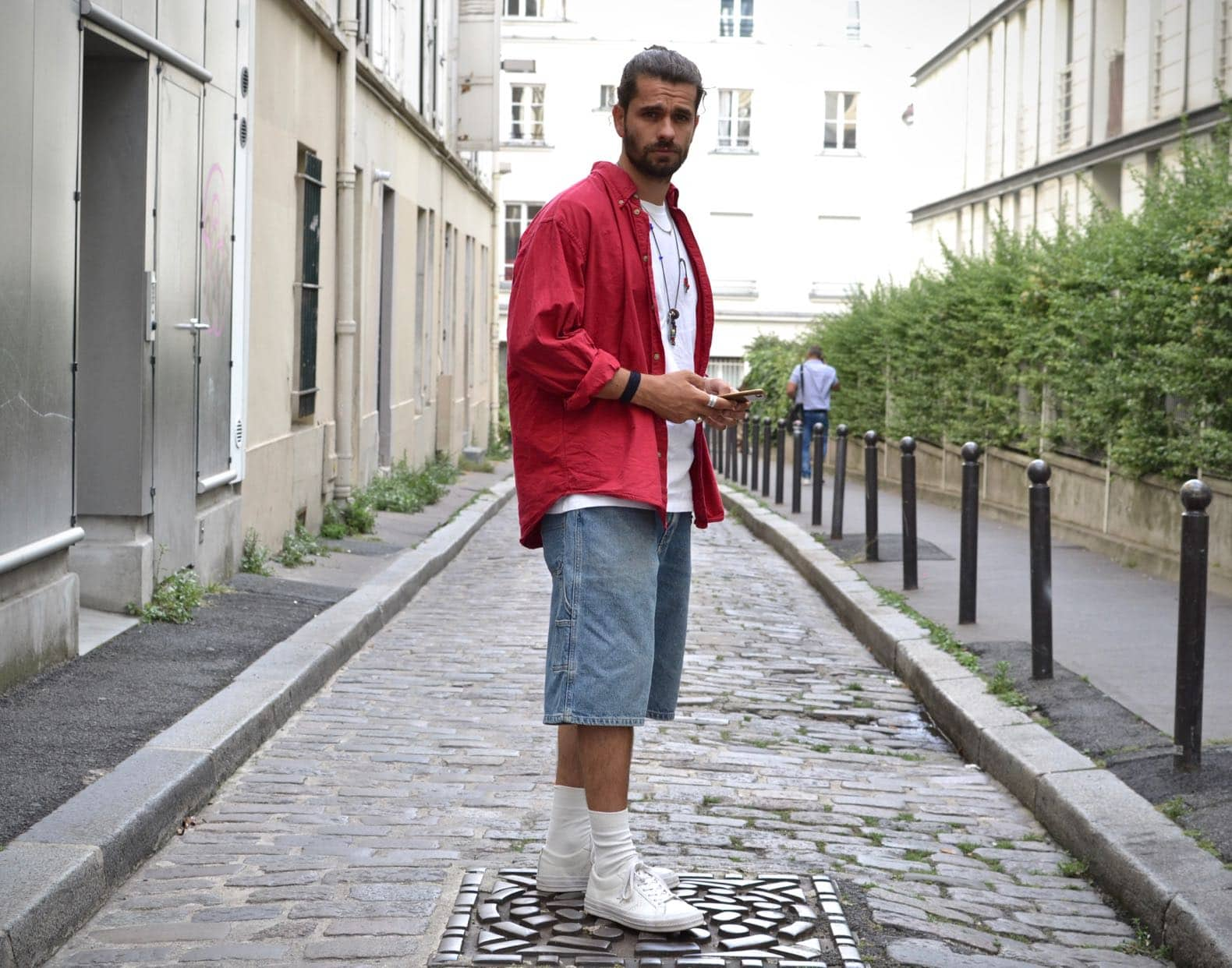 look homme streetwear coupe baggy