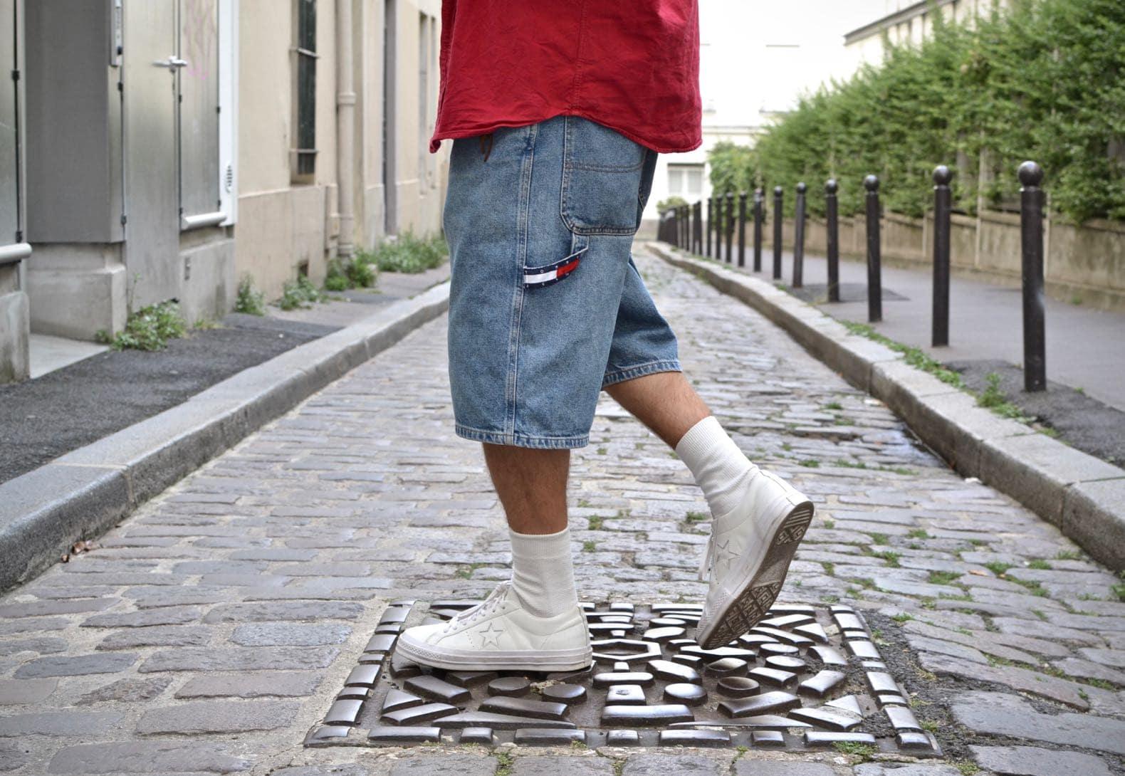 carpenter baggy shorts tommy hilfiger jeans