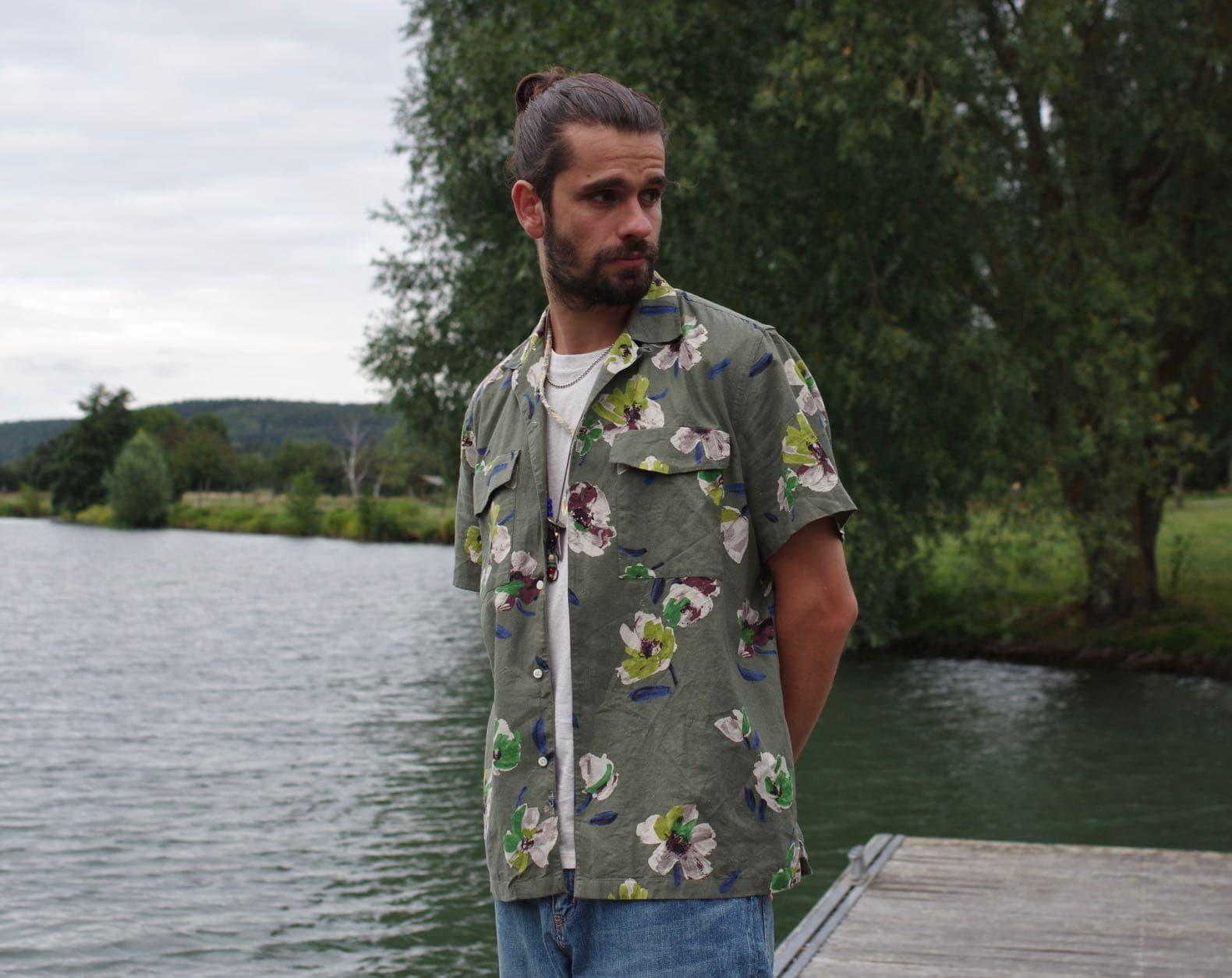 chemisette fleurs abcl marque italienne
